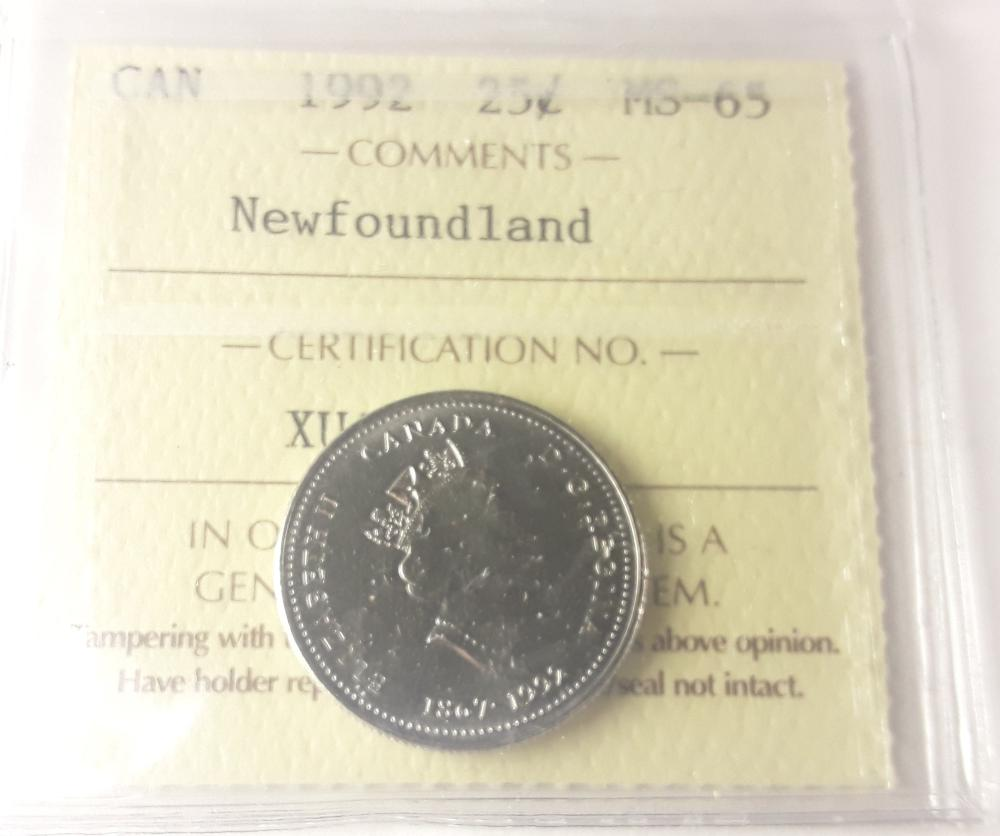 Canada 1992 Newfoundland 25 Cent Collection