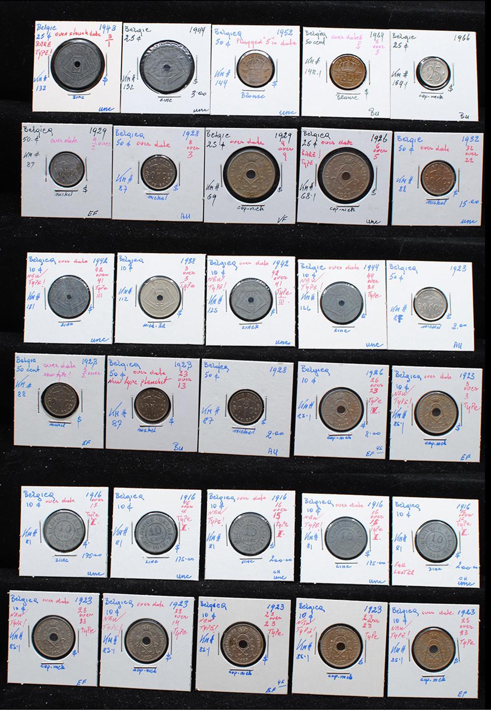 Belgium 1916-66 Coin Collection