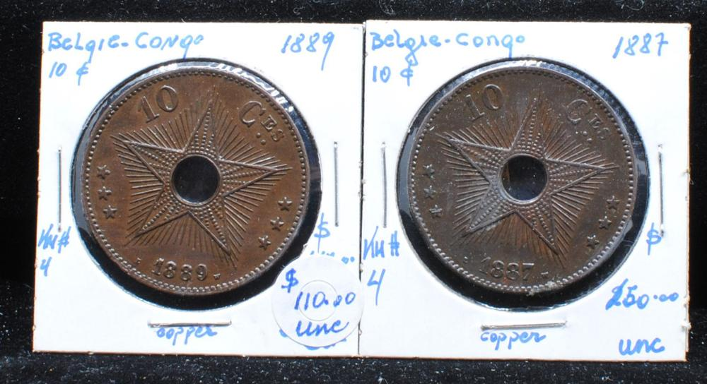Belgium Congo 1887-1889 KM#4 Coins