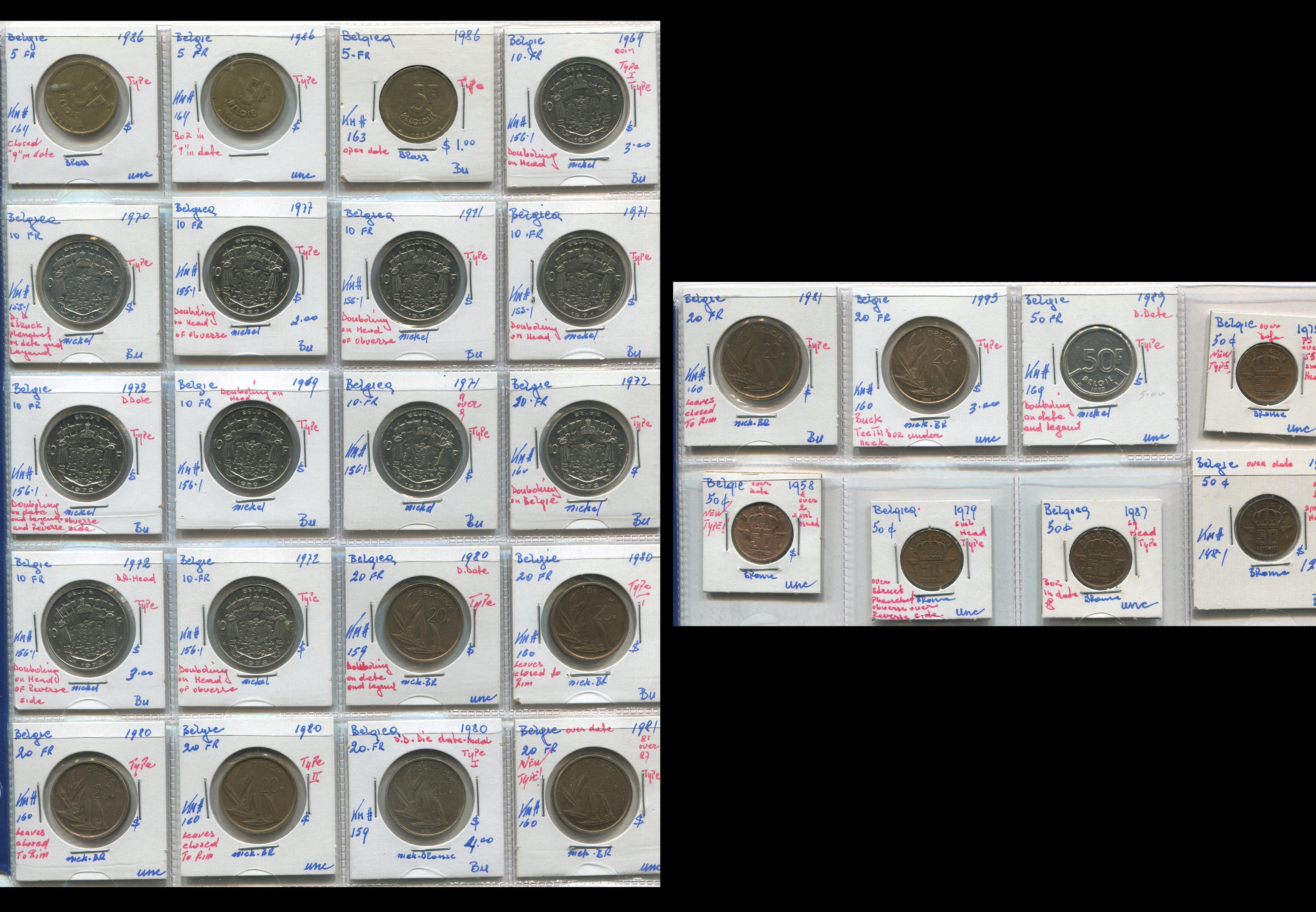 Belgium 1958-93 Coin Collection
