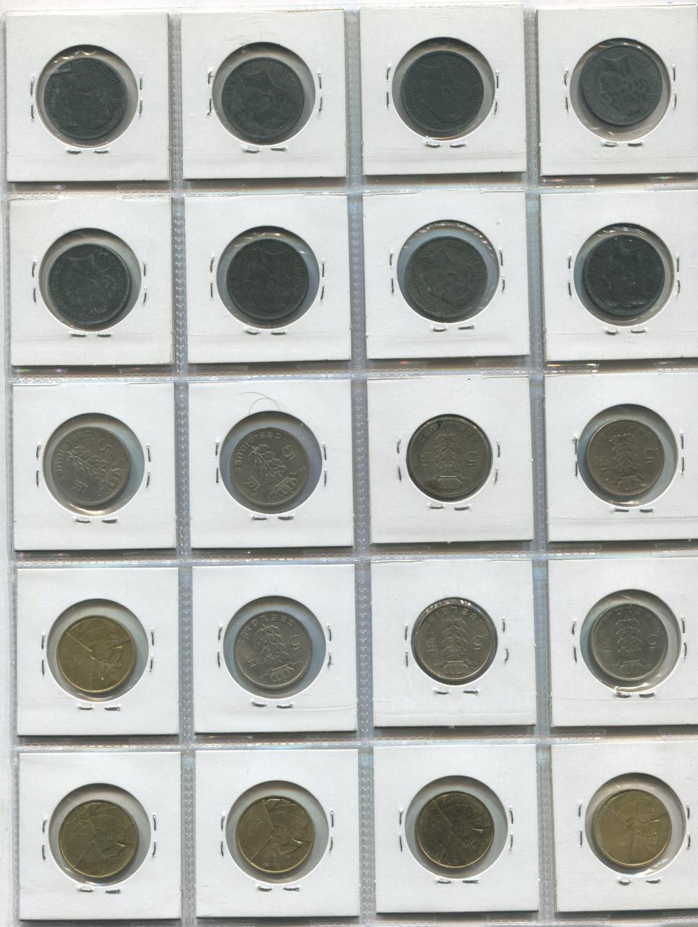 Belgium 1941-86 Coin Collection
