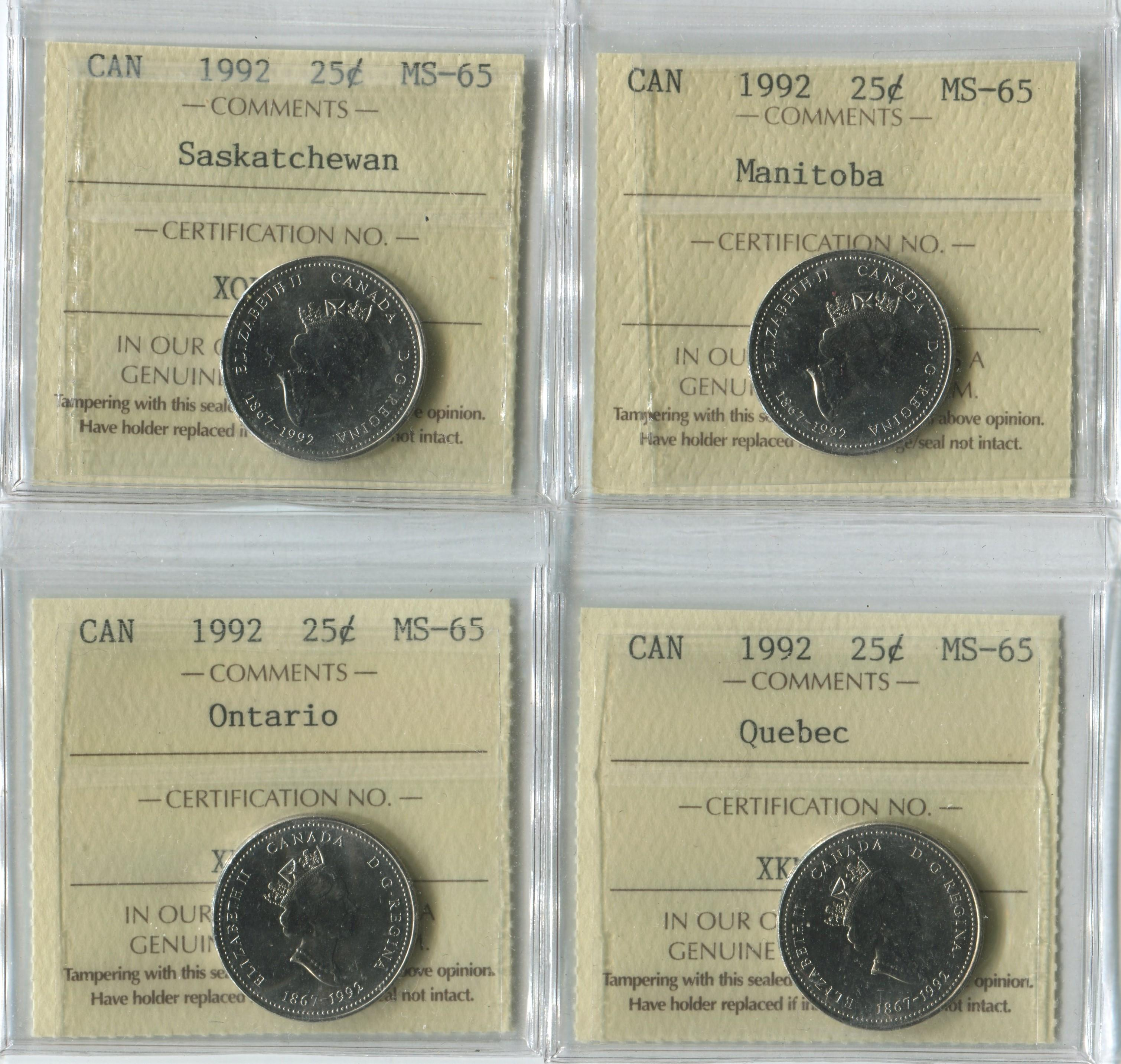 Canada 1992 25c MS65 Coin Collection