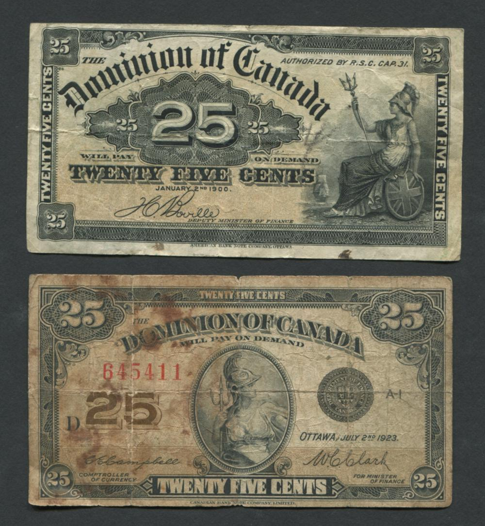 Dominion of Canada 25 Cent Banknotes