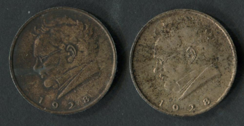 Austria 1928 Schubert Silver 2 Shilling UNC Coins