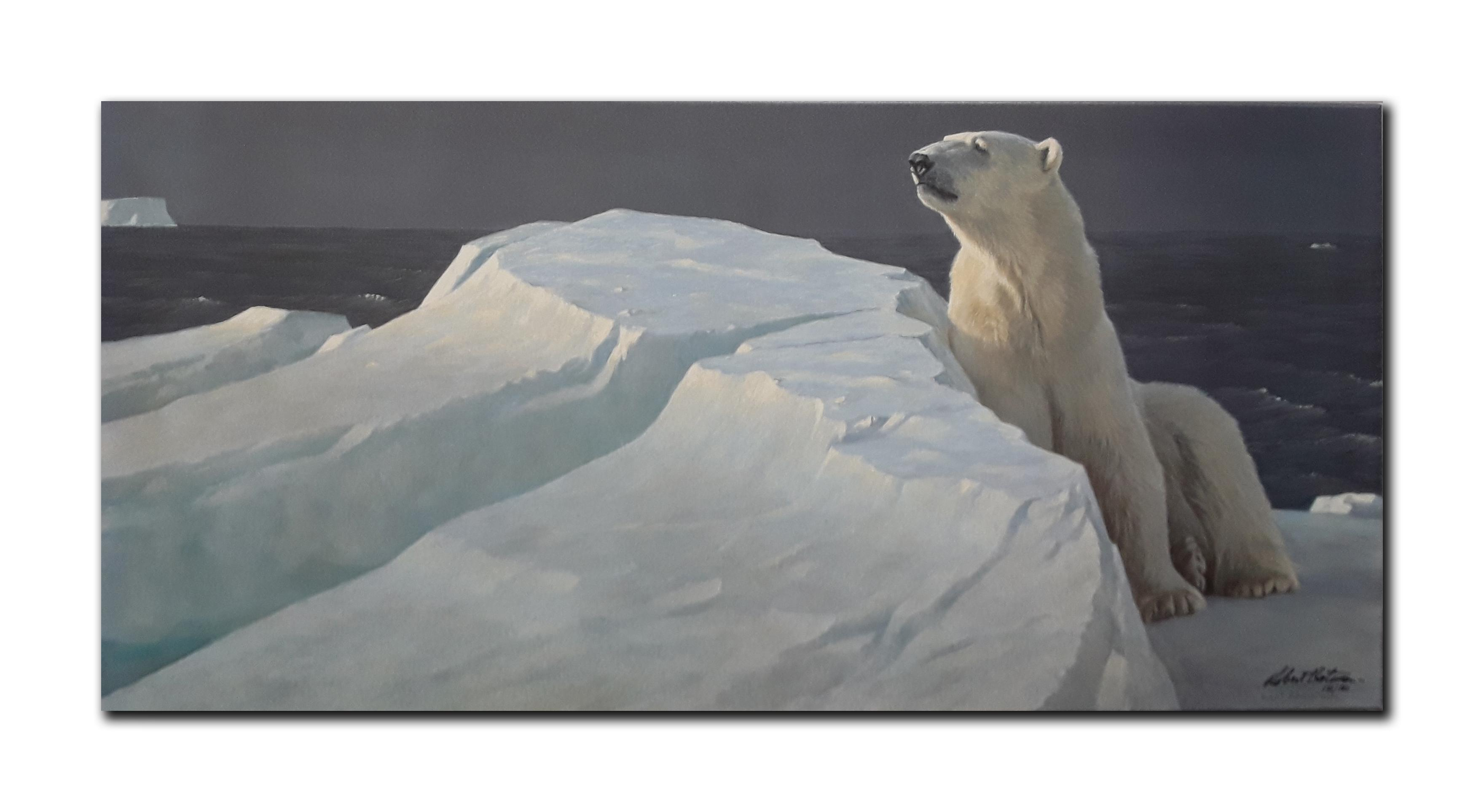 "Robert Bateman's ""Long Light- Polar Bear"" Limited Edition Canvas"