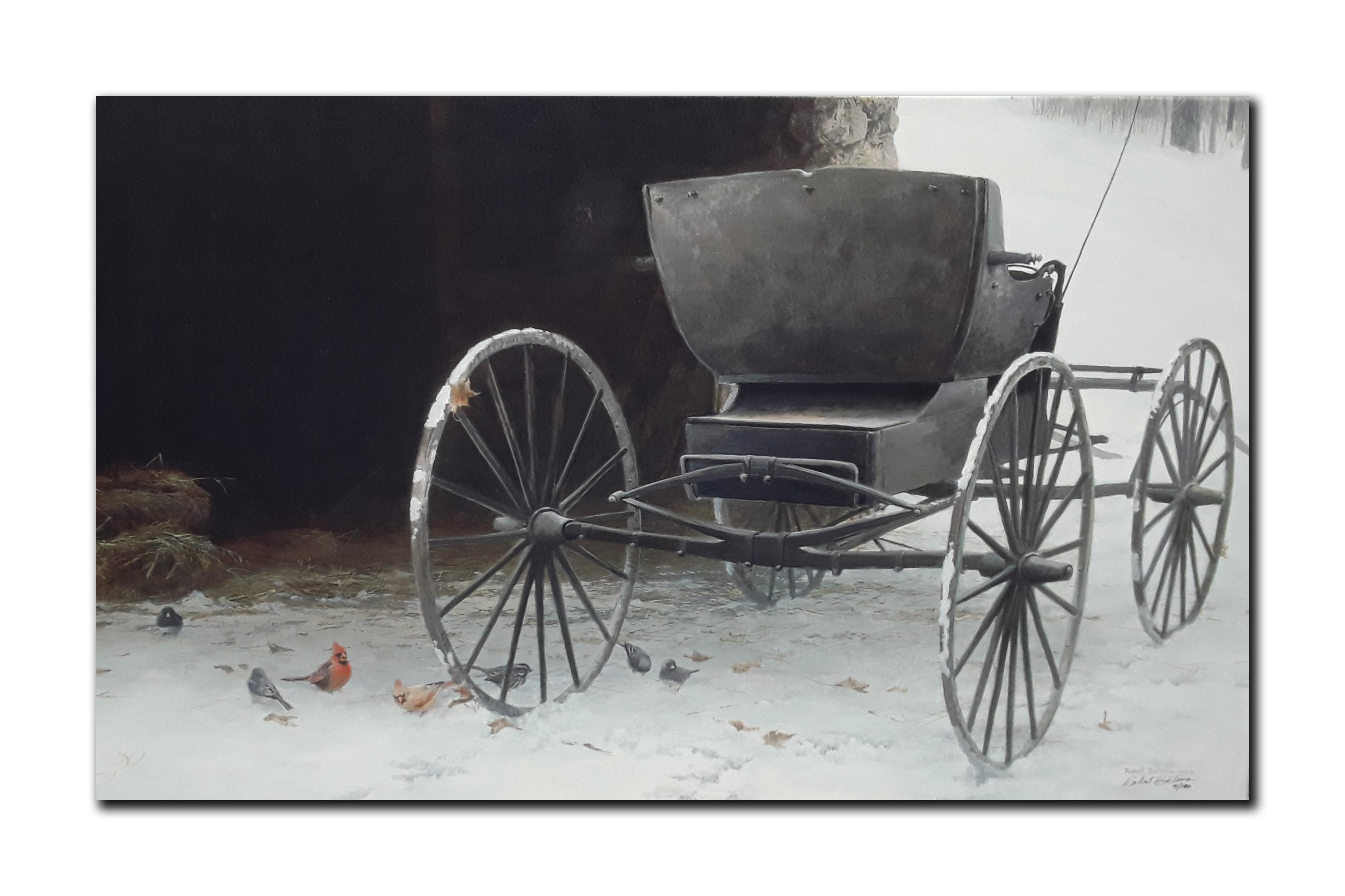 """Robert Bateman's """"Old Buggy And Winter Birds"""" Limited Edition Canvas"""