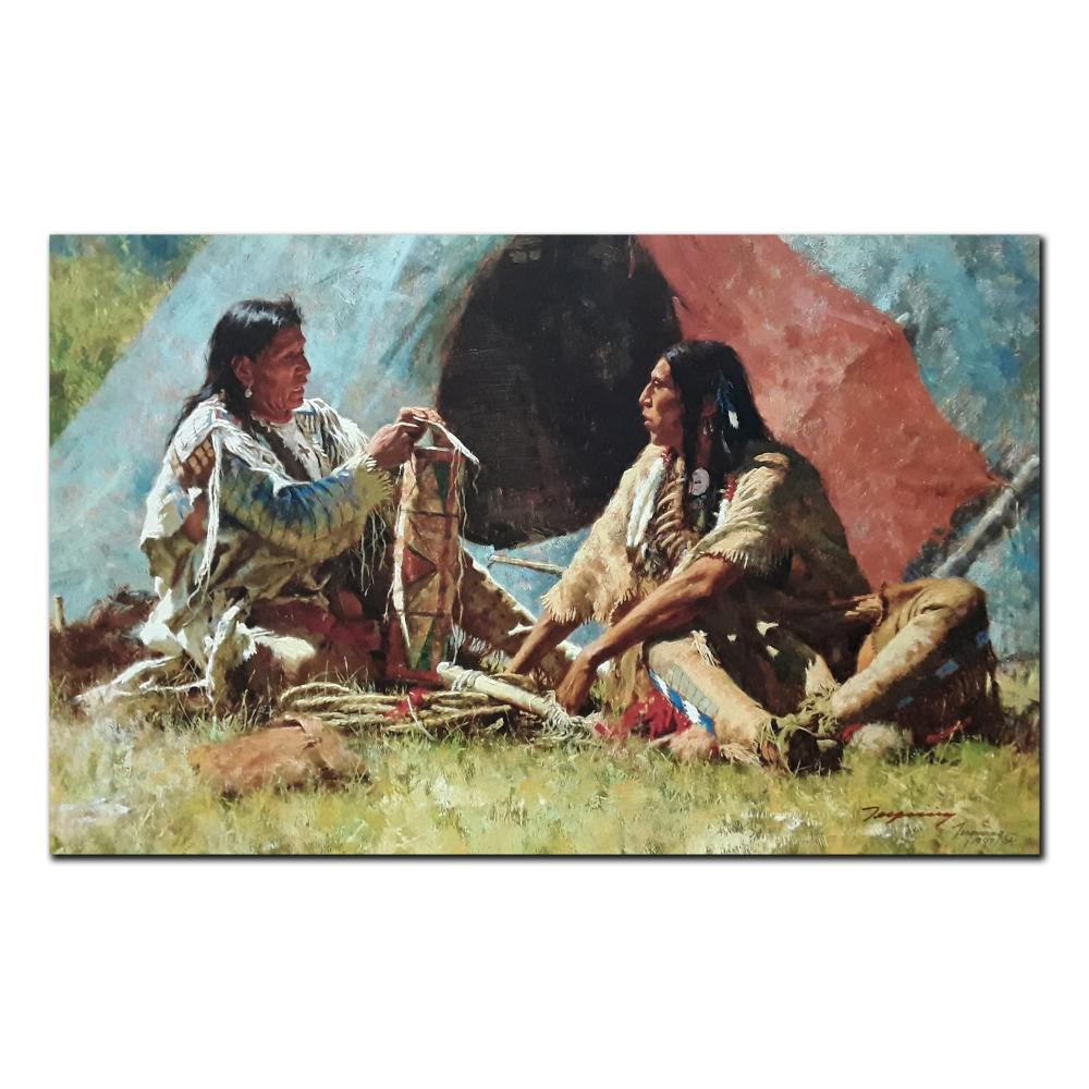 """Howard Terpning's """"The Bonnet Case"""" Limited Edition Canvas"""