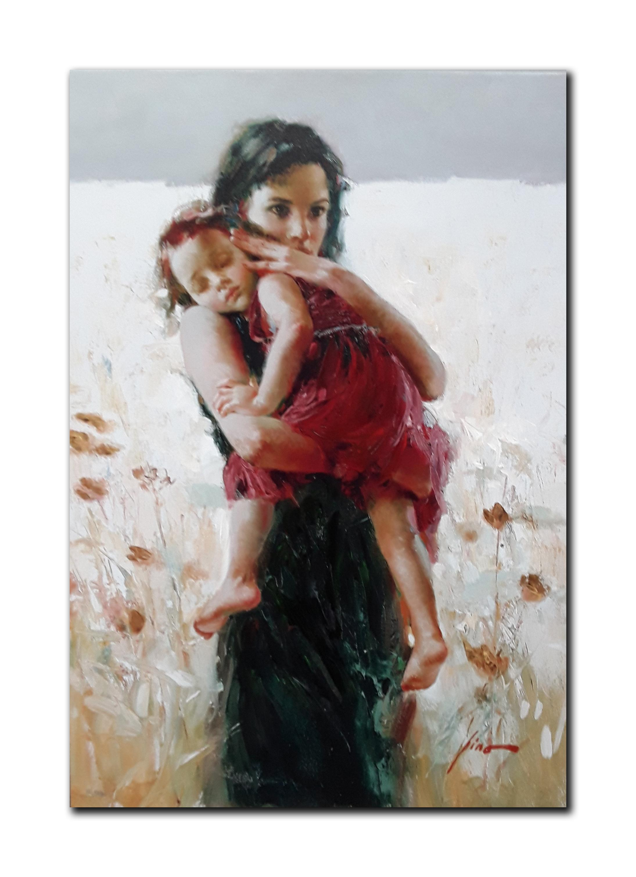 """Pino's """"Maternal Instincts"""" Limited Edition Hand Embellished Canvas"""