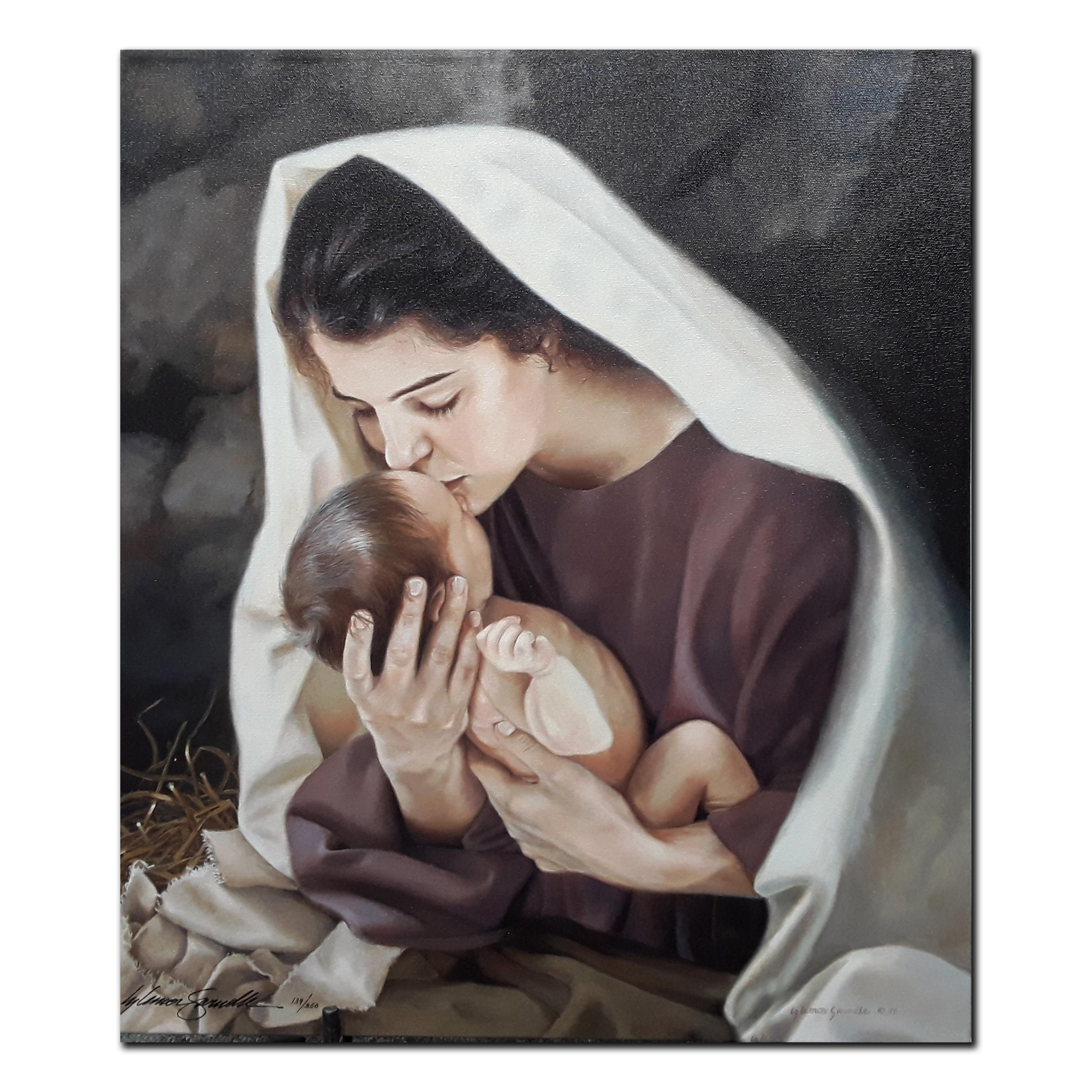 """Liz Lemon Swindle's """"She Shall Bring Forth a Son"""" Limited Edition Canvas"""