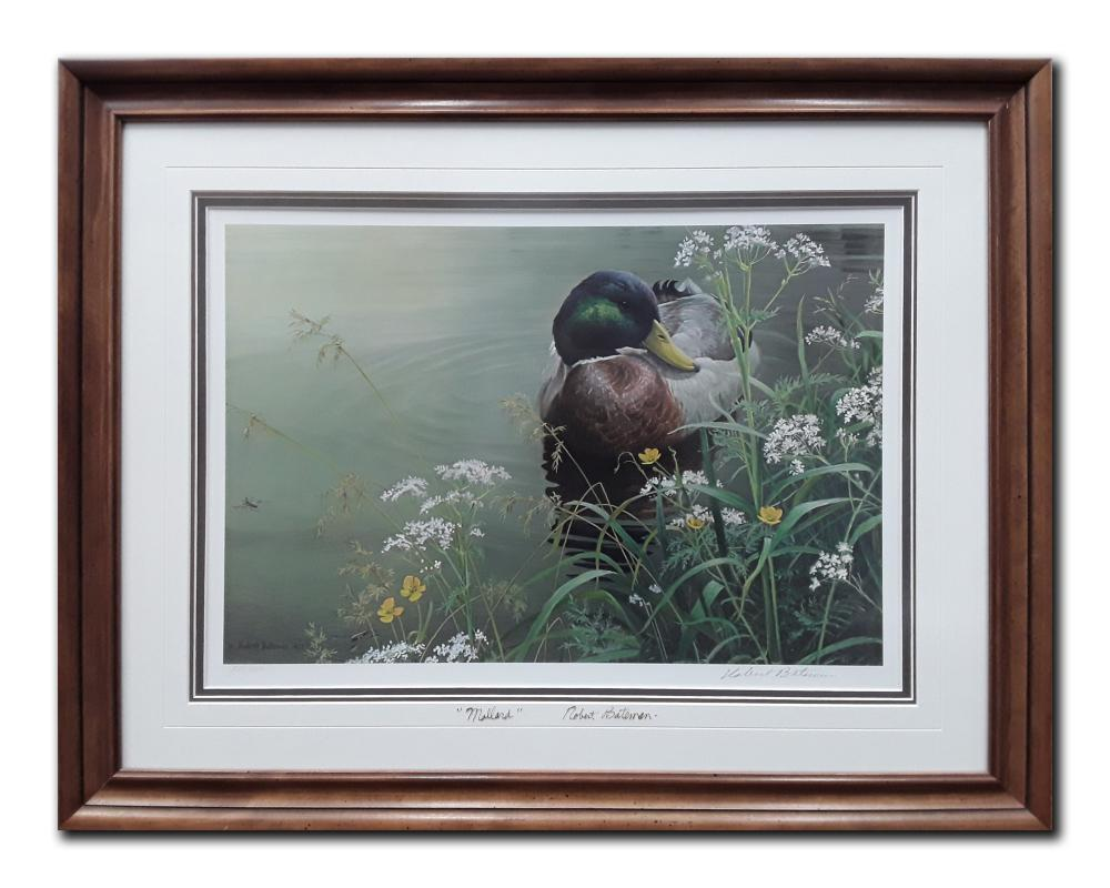 "Robert Bateman's ""Meadows Edge- Mallard"" Limited Edition Framed Print"