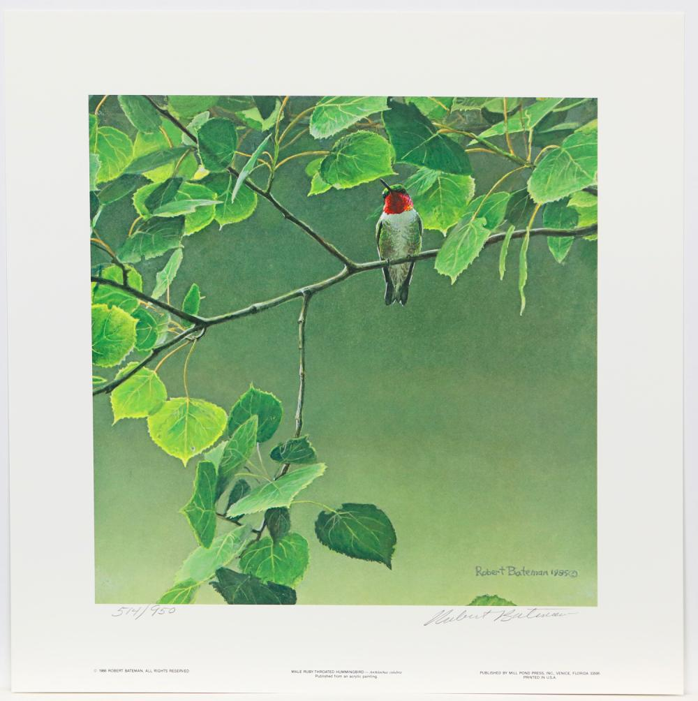 "Robert Bateman's ""Hummingbird Pair"" Limited Edition Print Signed and Numbered"