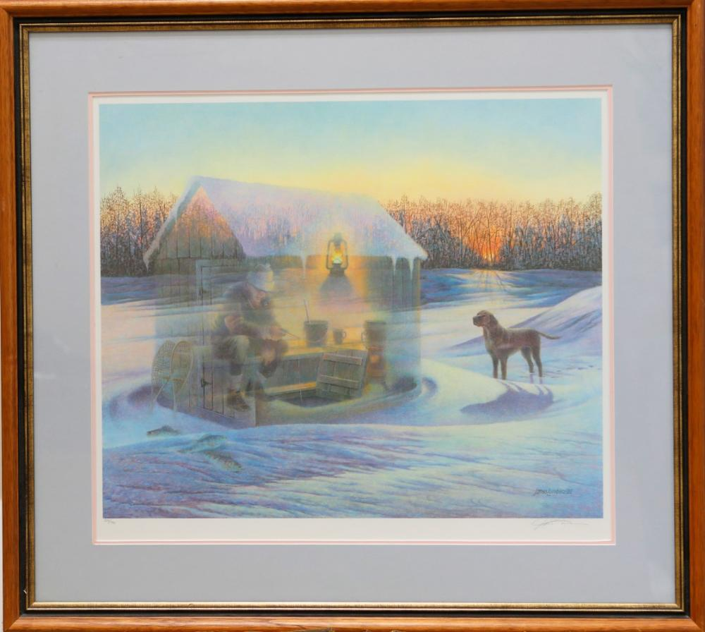"""James Lumbers' """"Winter's Glow"""" Limited Edition Framed Print"""