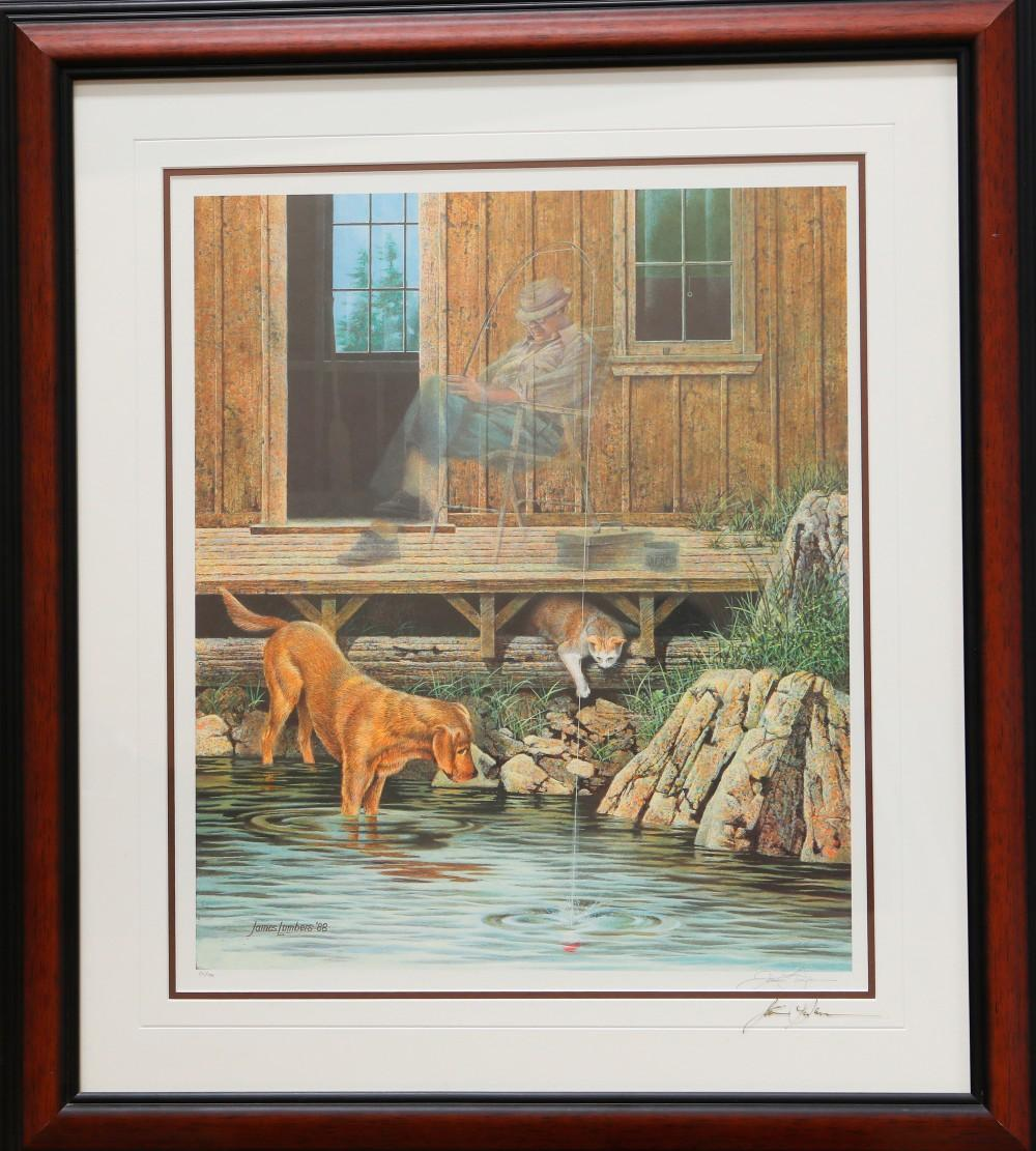 """James Lumbers' """"Lucky Strike"""" Limited Edition Framed Print"""