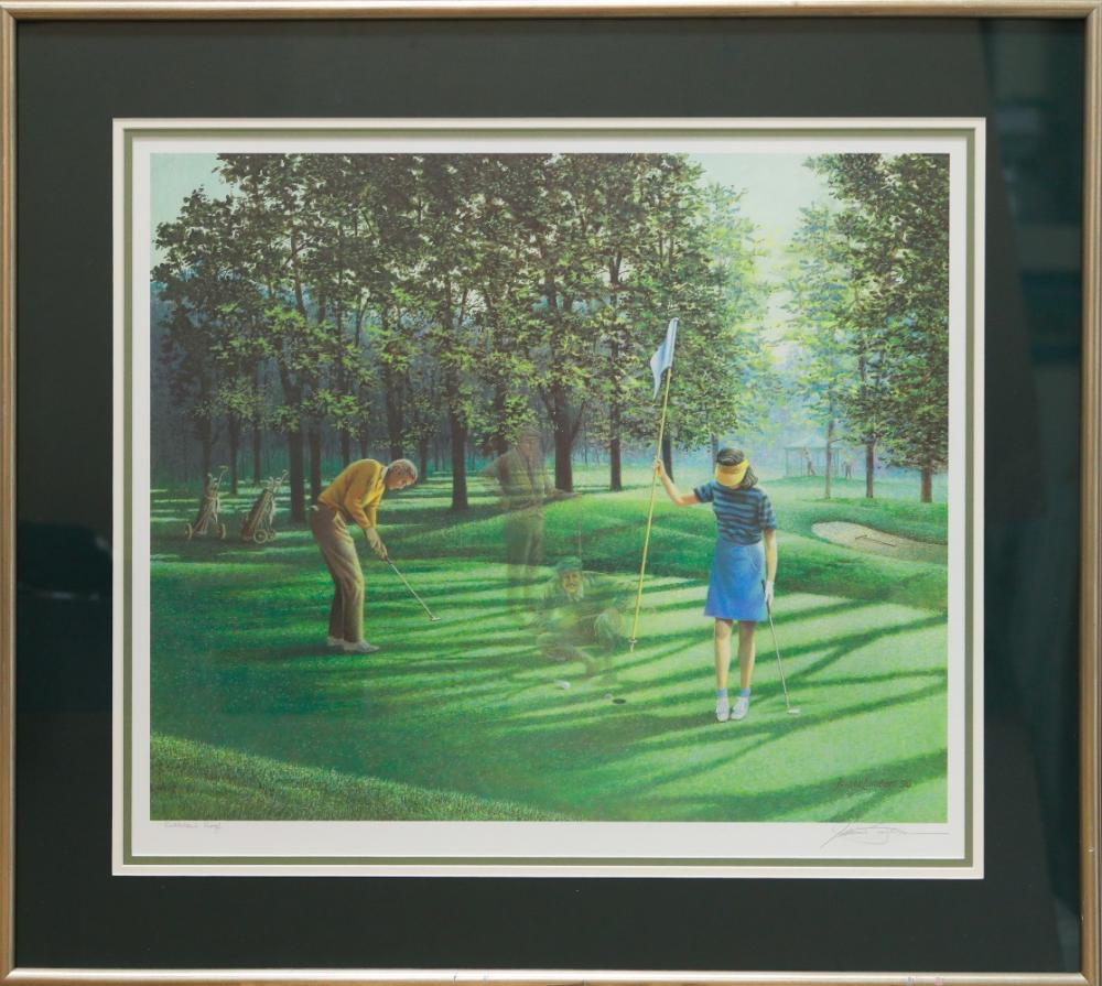 """James Lumbers' """"Playing Through"""" Limited Edition Publisher's Proof Framed Print"""