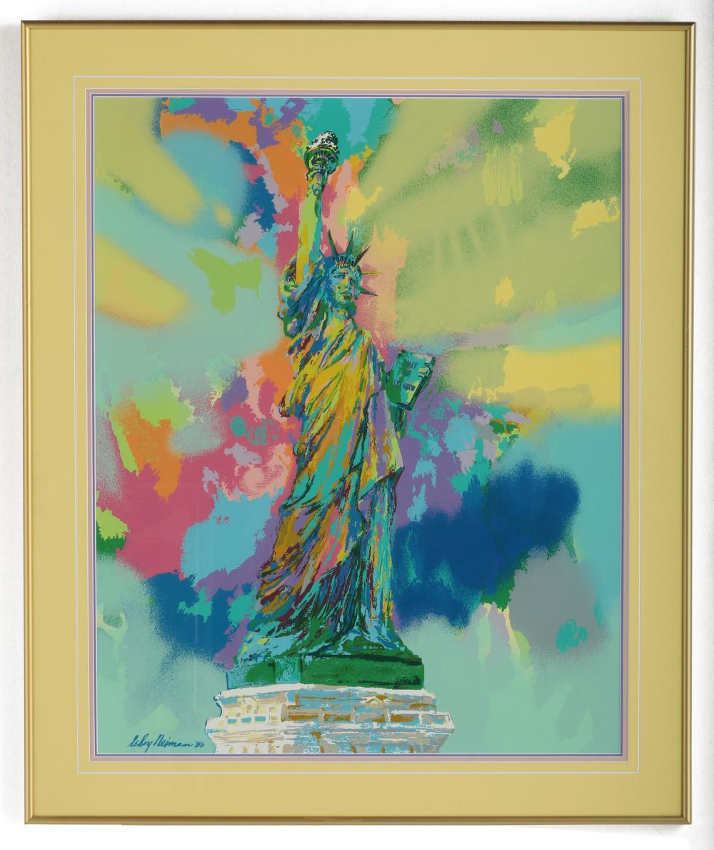 """Leroy Neiman's """"Lady Liberty"""" Limited Edition Lithograph"""
