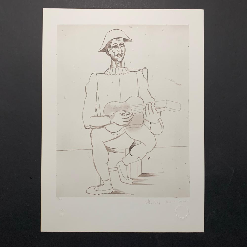 "Pablo Picasso's ""Arlequin Moustachu a la Guitare"" Lithograph"
