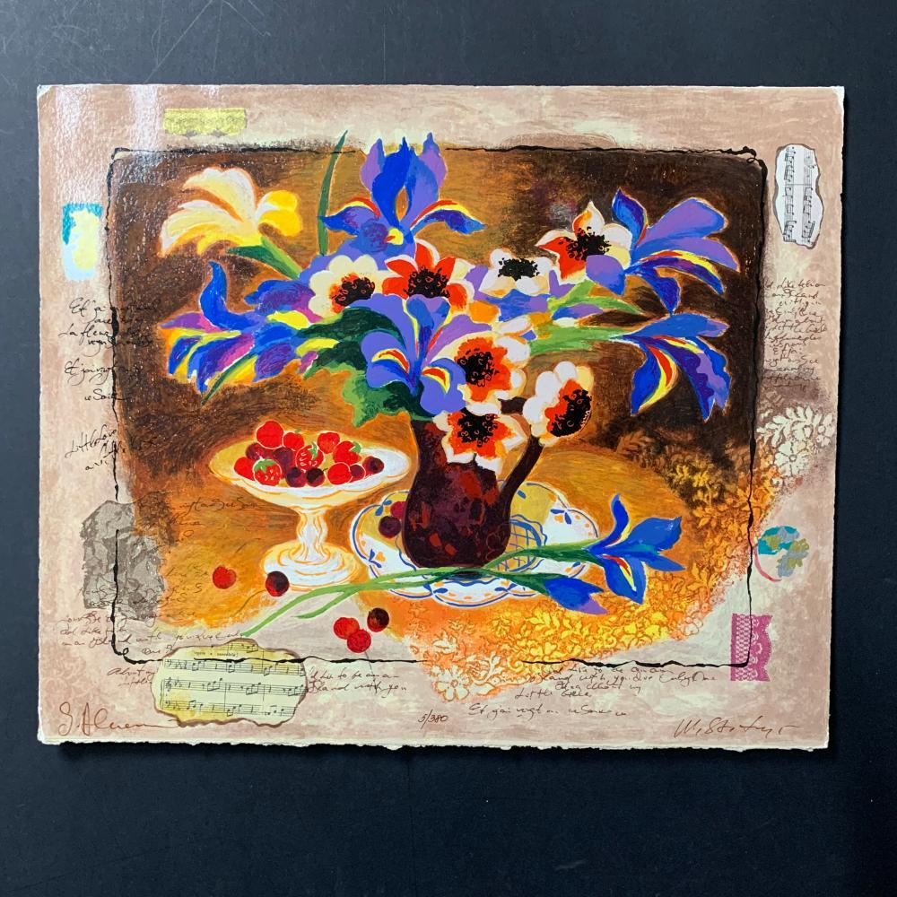"Alex and Tina Wissotzki's ""Autumn Flowers - Blue Iris"" Limited Edition"