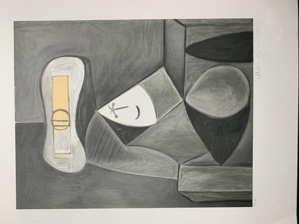 """Pablo Picasso's """"Femme au Chapeau Gris"""" Limited Edition Lithograph"""