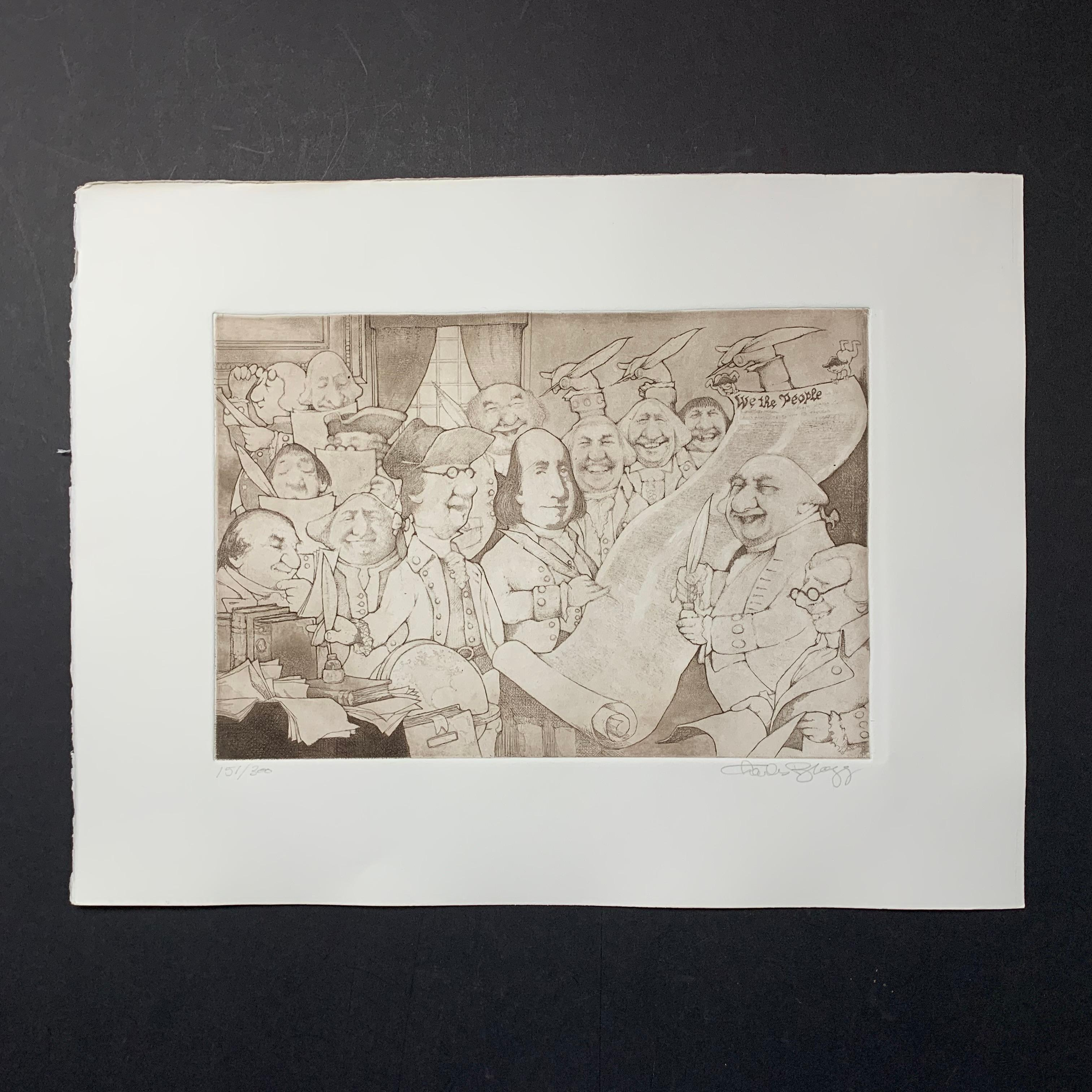 "Charles Bragg's ""Signors of the Declaration of Independence"" Limited Edition Print"