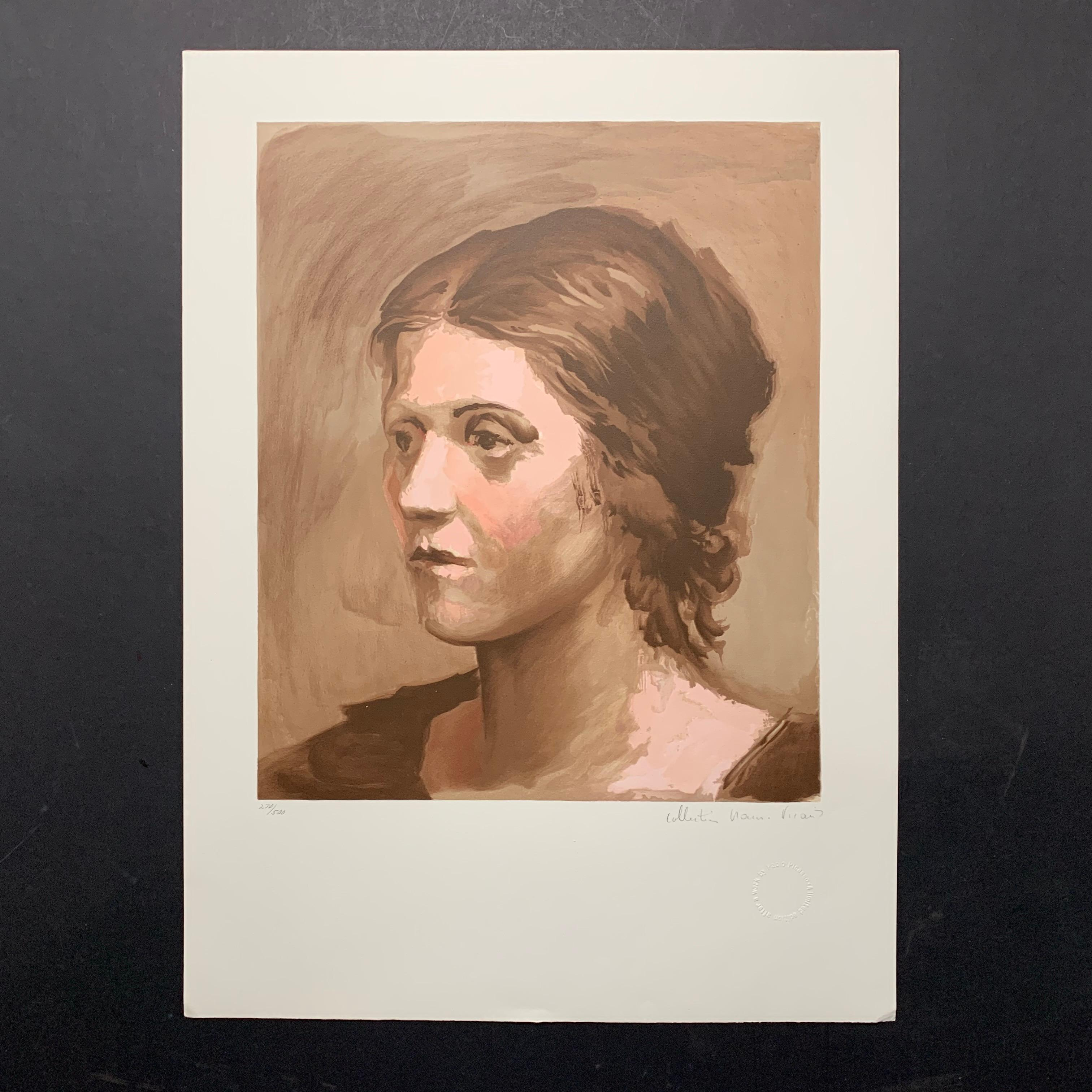 "Pablo Picasso's ""Olga Picasso"" Limited Edition Lithograph"