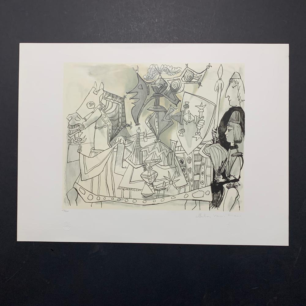 "Pablo Picasso's ""Jeux de Pages"" Limited Edition Lithograph"