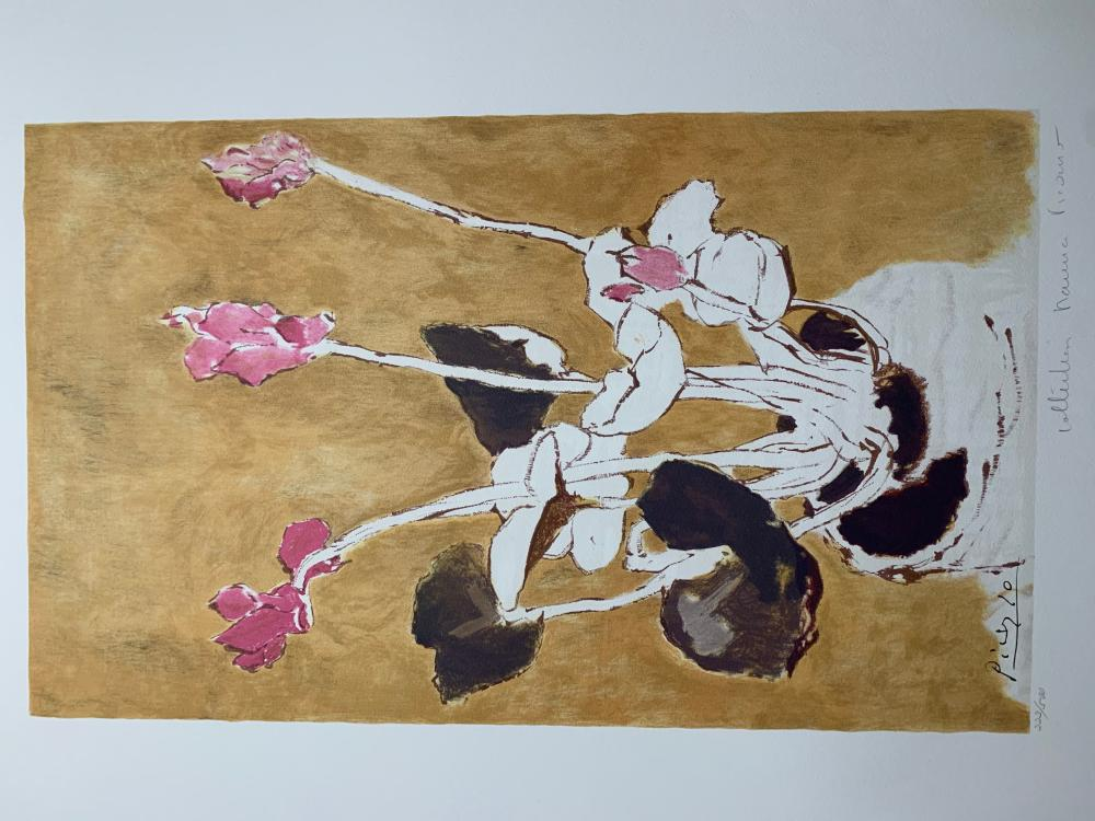 "Pablo Picasso's ""Les Cyclamens"" Limited Edition Lithograph"