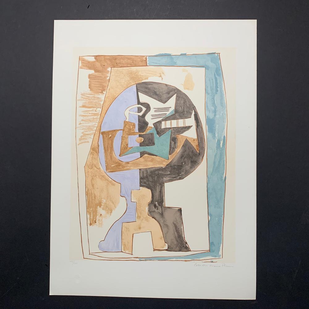 "Pablo Picasso's ""Gueridon Et Guitare"" Limited Edition Lithograph"