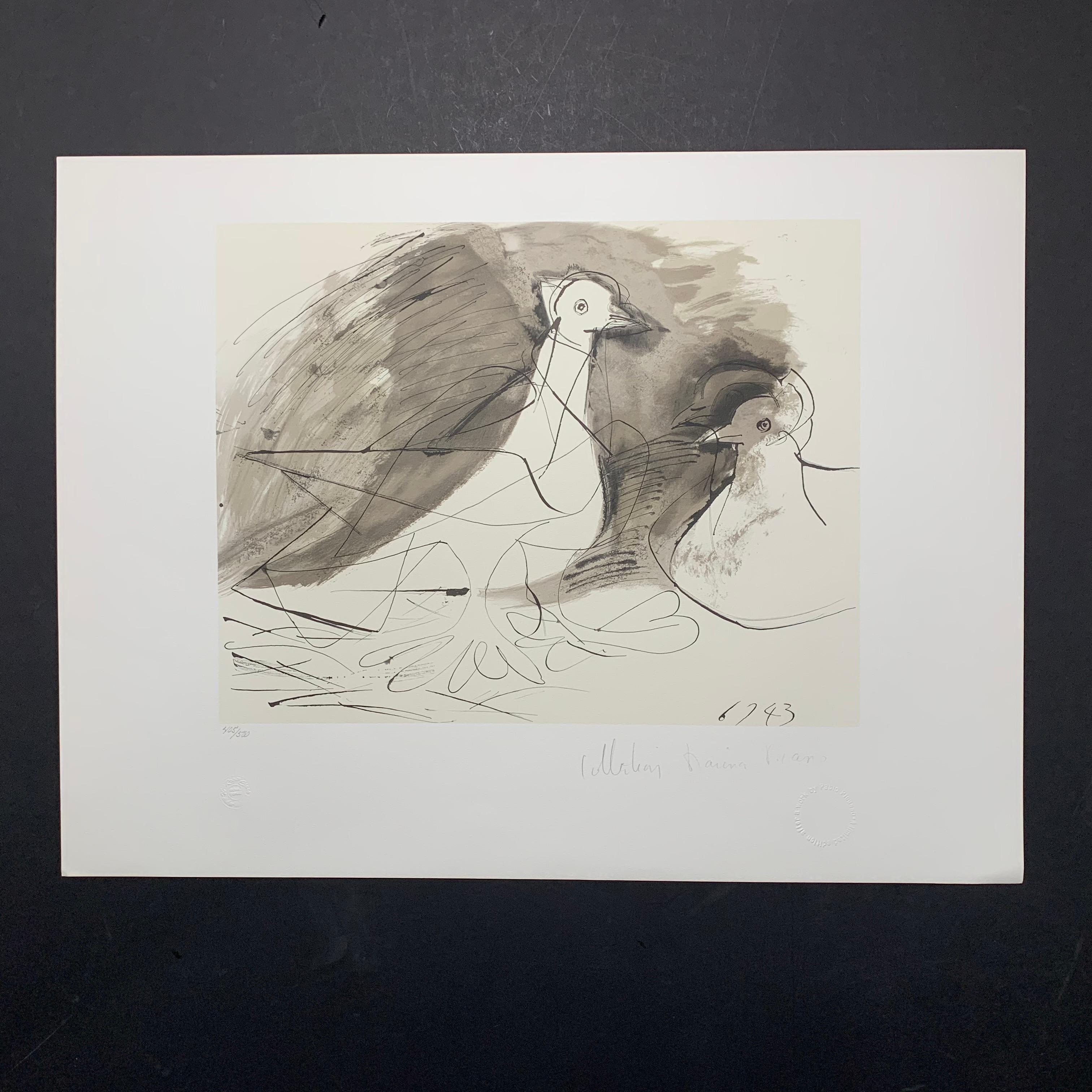 """Pablo Picasso's """"Pigeons"""" Limited Edition Lithograph"""