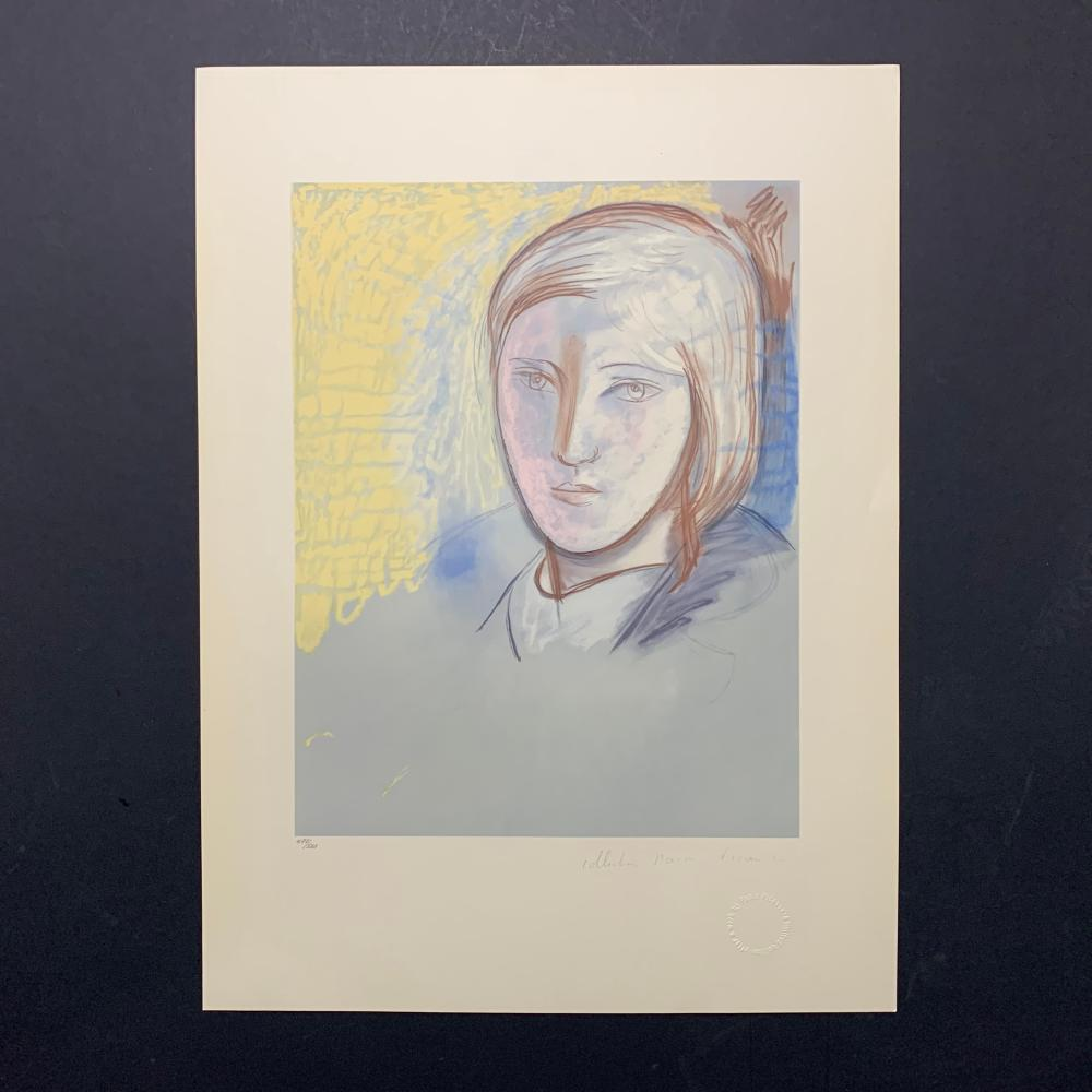 "Pablo Picasso's ""Portrait of Marie-Therese"" Limited Edition Lithograph"