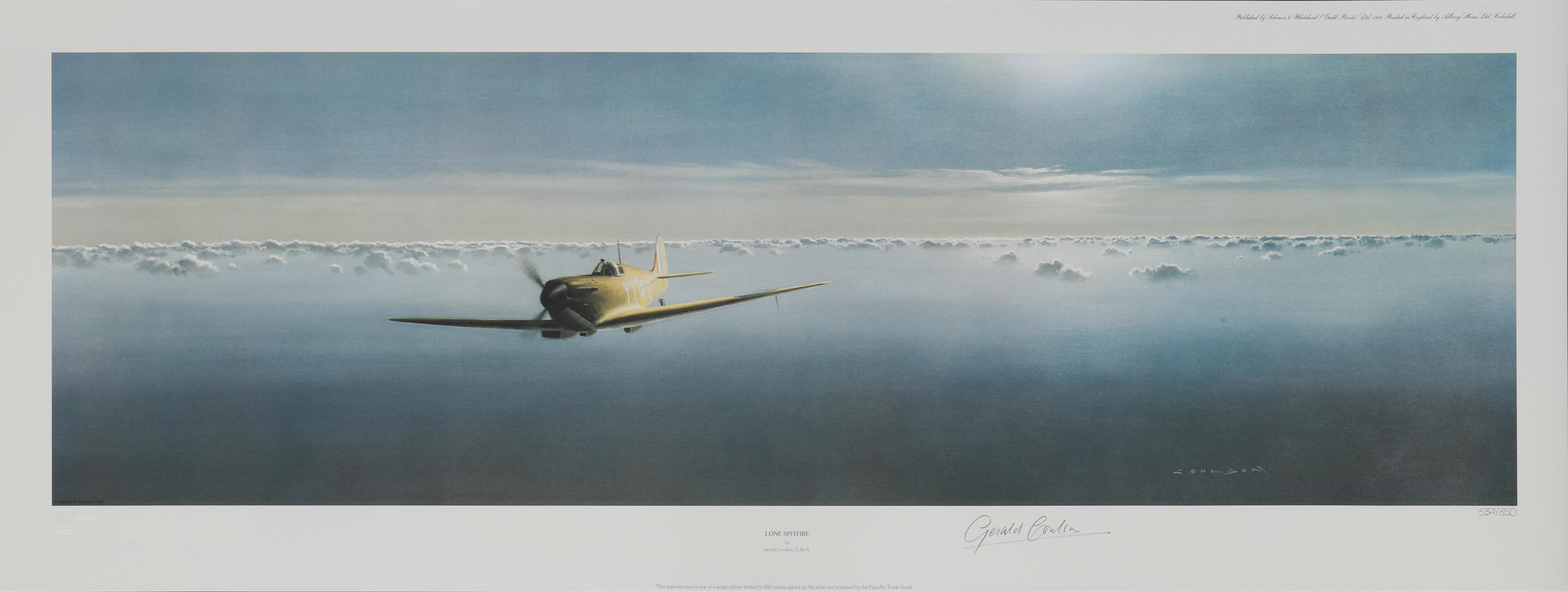 """Gerald Coulson's """"Lone Spitfire"""" Limited Edition Print"""