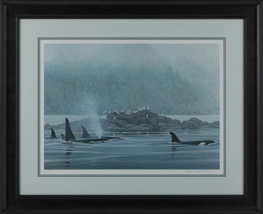 "Robert Bateman's ""Orca Procession"" Framed Limited Edition Print"