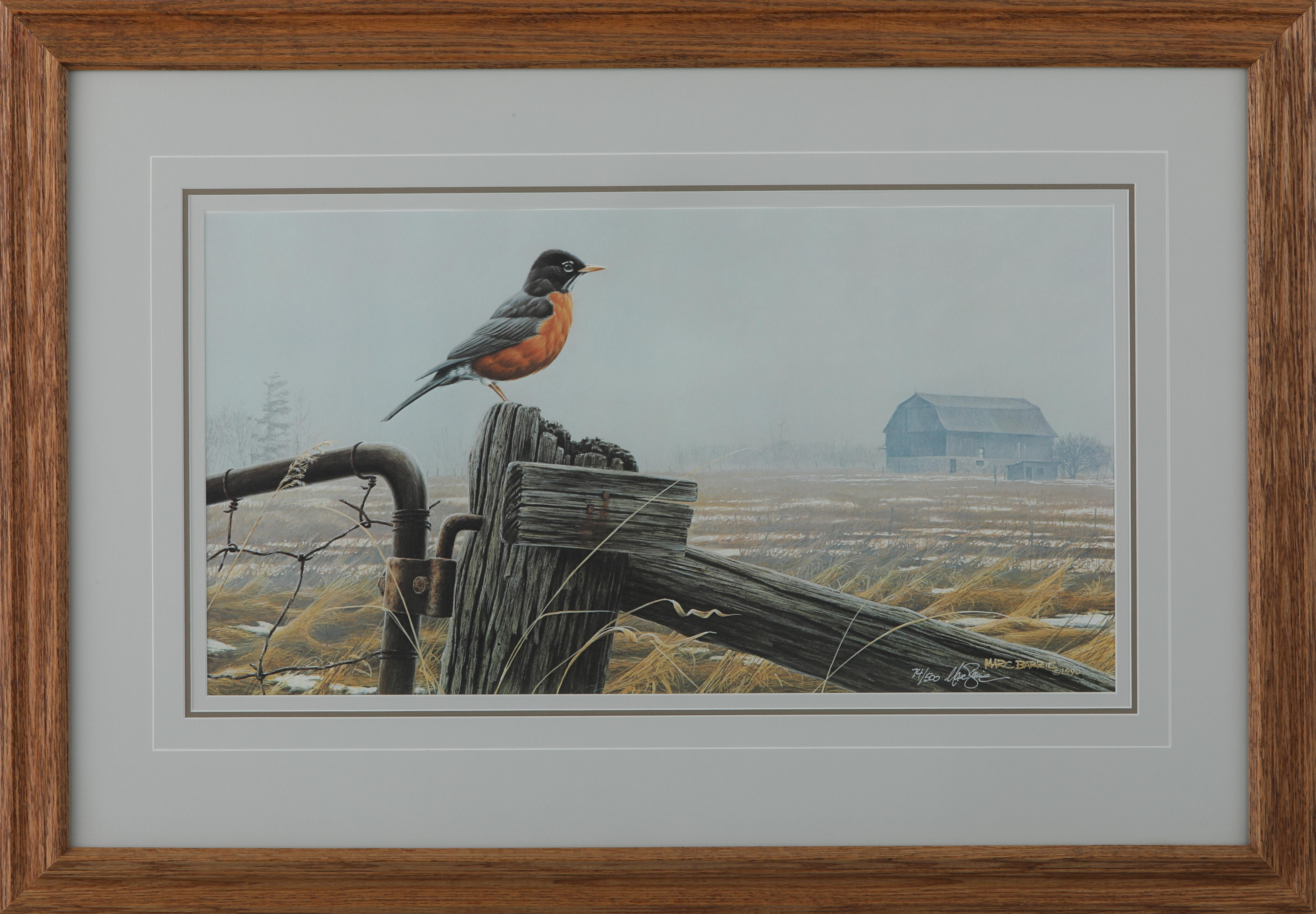 """Marc Barrie's The Homecoming -Robin"""" Framed Limited Edition Print"""