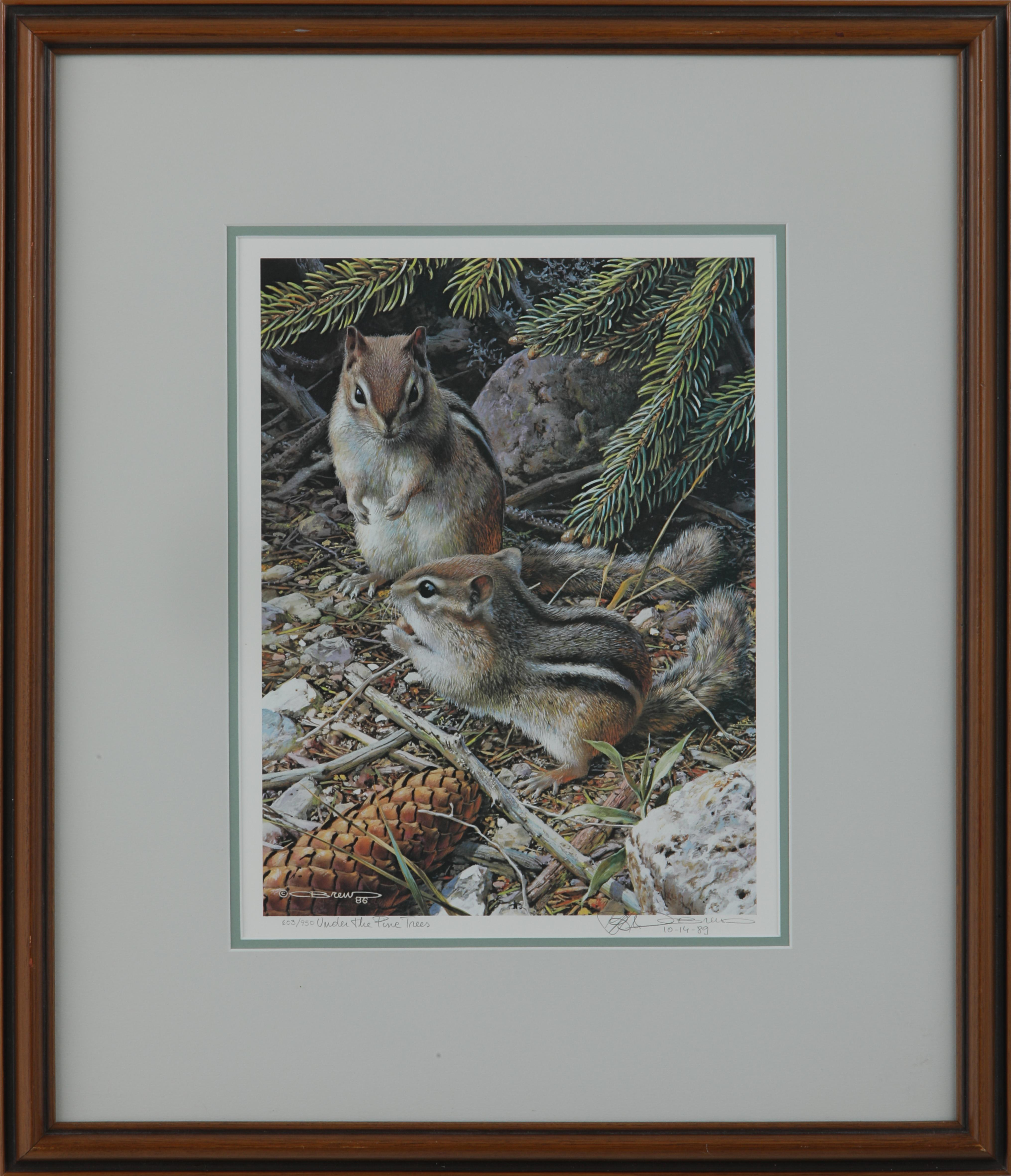"""Carl Brenders' """"Under The Pines Trees"""" Limited Edition Print"""