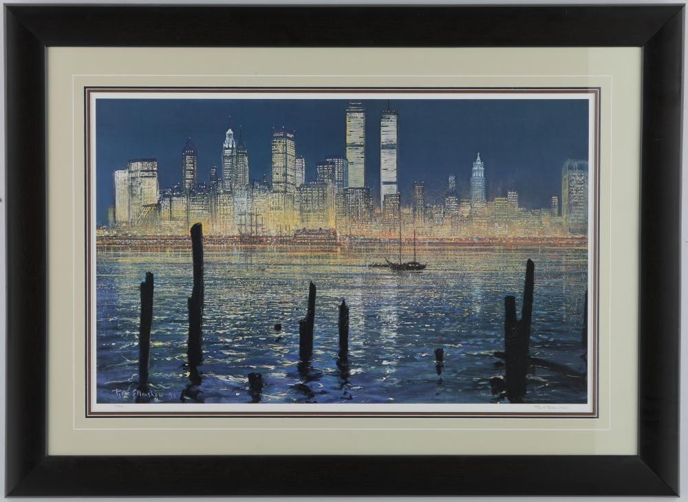 """Peter Ellenshaw's """"The Glisten of New York"""" Limited Edition Framed Print"""