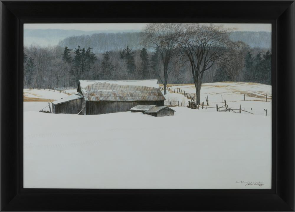 "Robert Bateman's ""Along Walker's Line"" Framed Limited Edition Giclee Canvas"