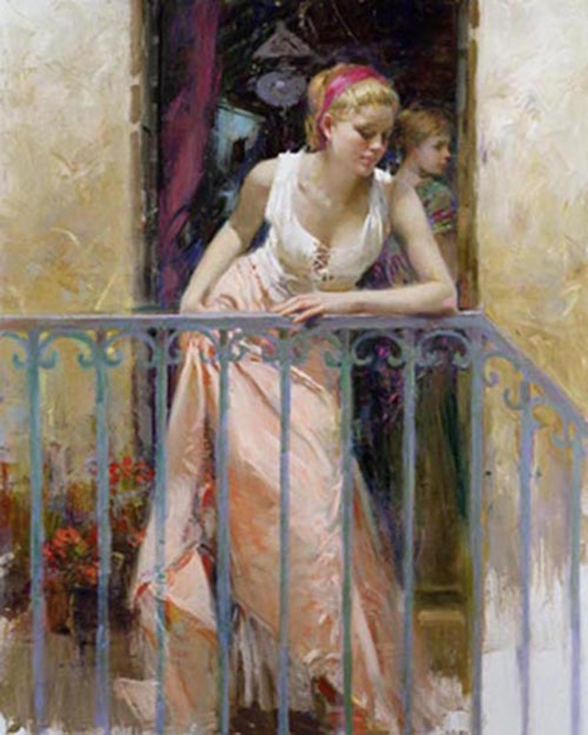 "Pino's ""At The Balcony"" Limited Edition Canvas"