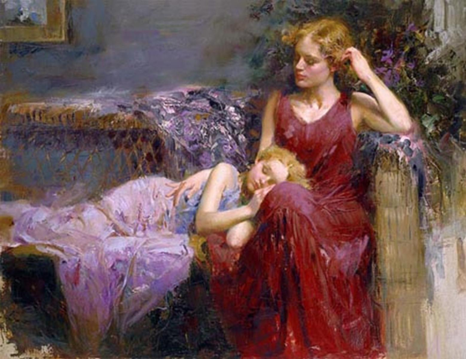 """Pino's """"A Mother's Love"""" Limited Edition Canvas"""