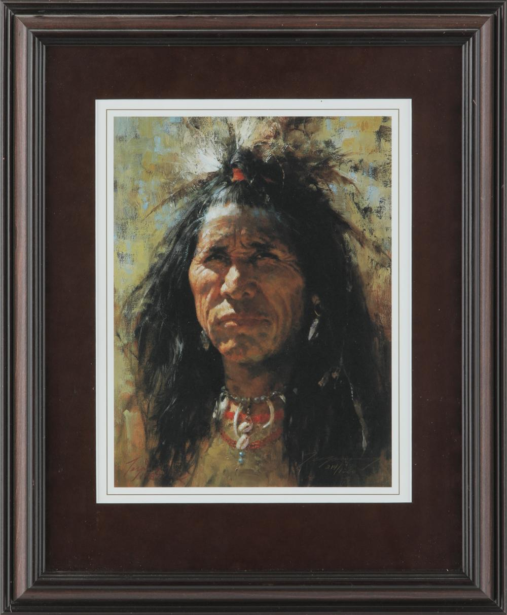"Howard Terpning's ""Blood Man"" Limited Edition Framed Print"