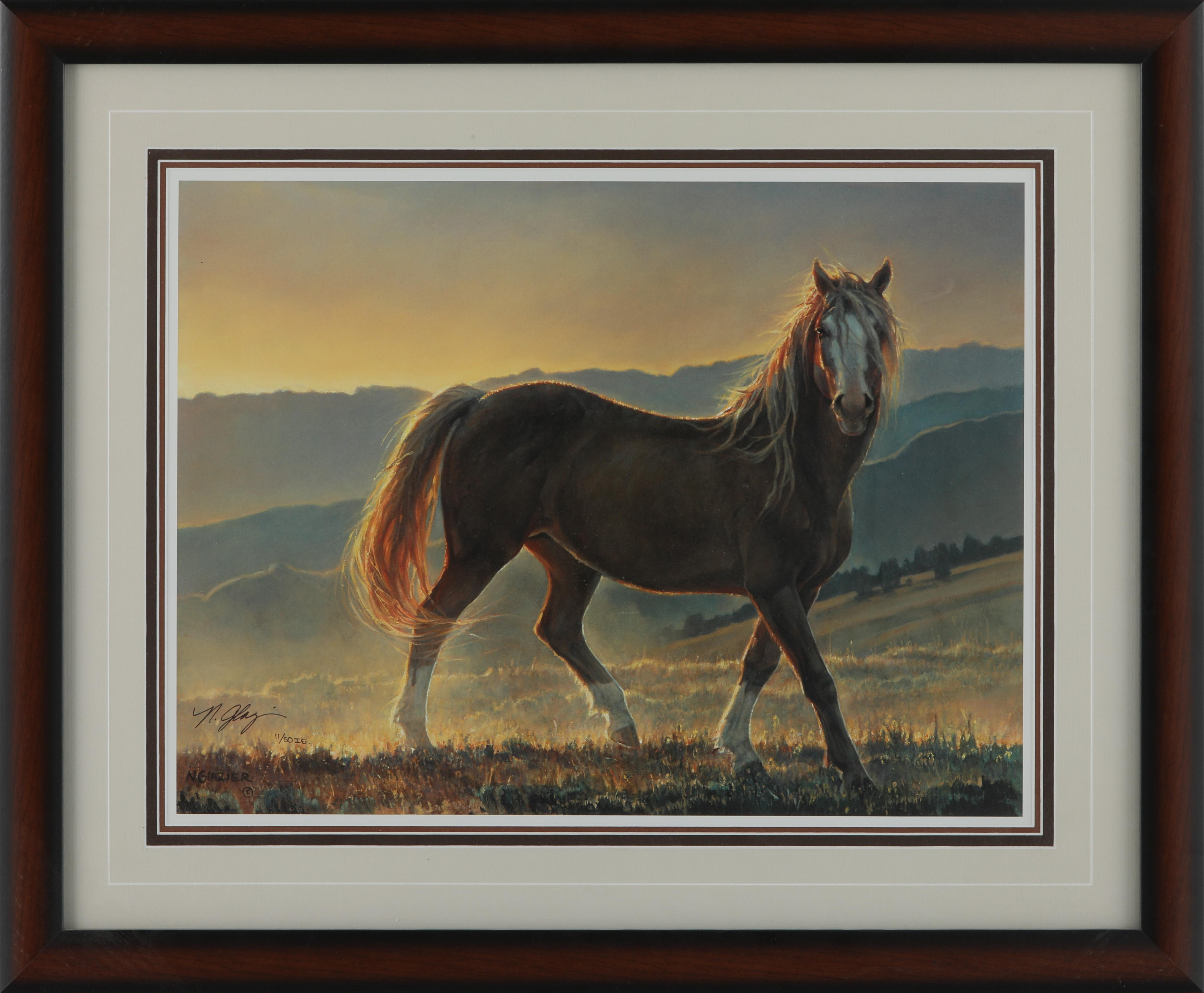 "Nancy Glazier's ""Blaze"" Limited Edition Framed Print"