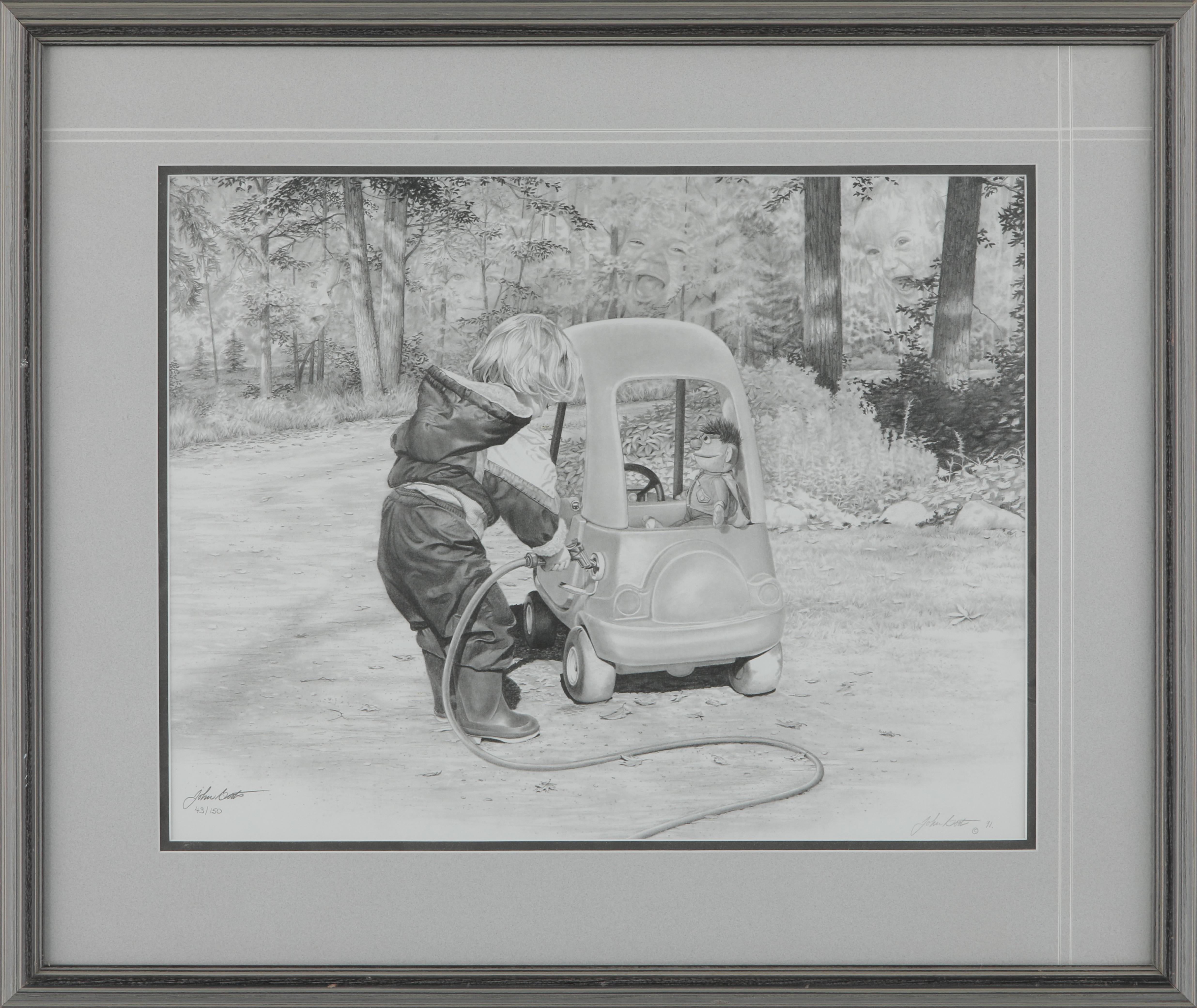 "John Boots' ""First Car"" Limited Edition Framed Print"
