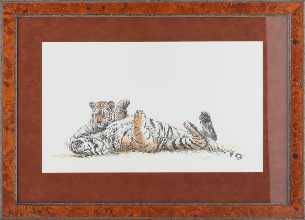 """Guy Coheleach's """"Playful Moment"""" Limited Edition Framed Print"""