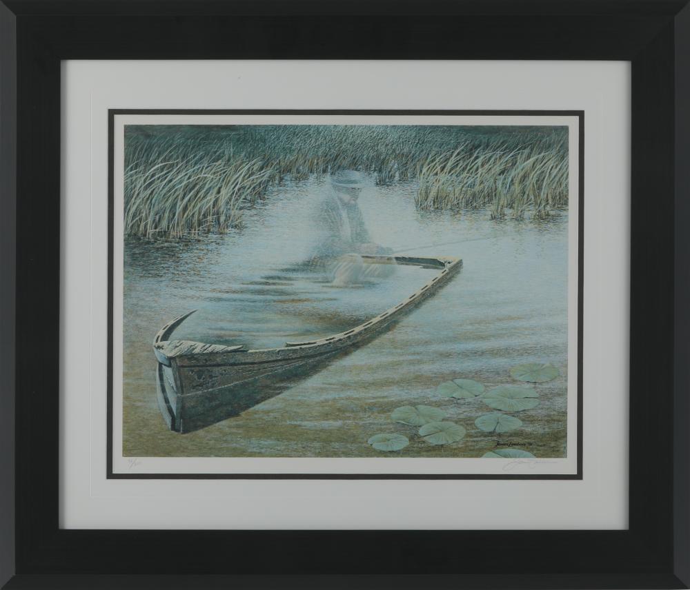 "James Lumbers' ""Mr. Emmet's Fishin Hole"" Framed Limited Edition Print"