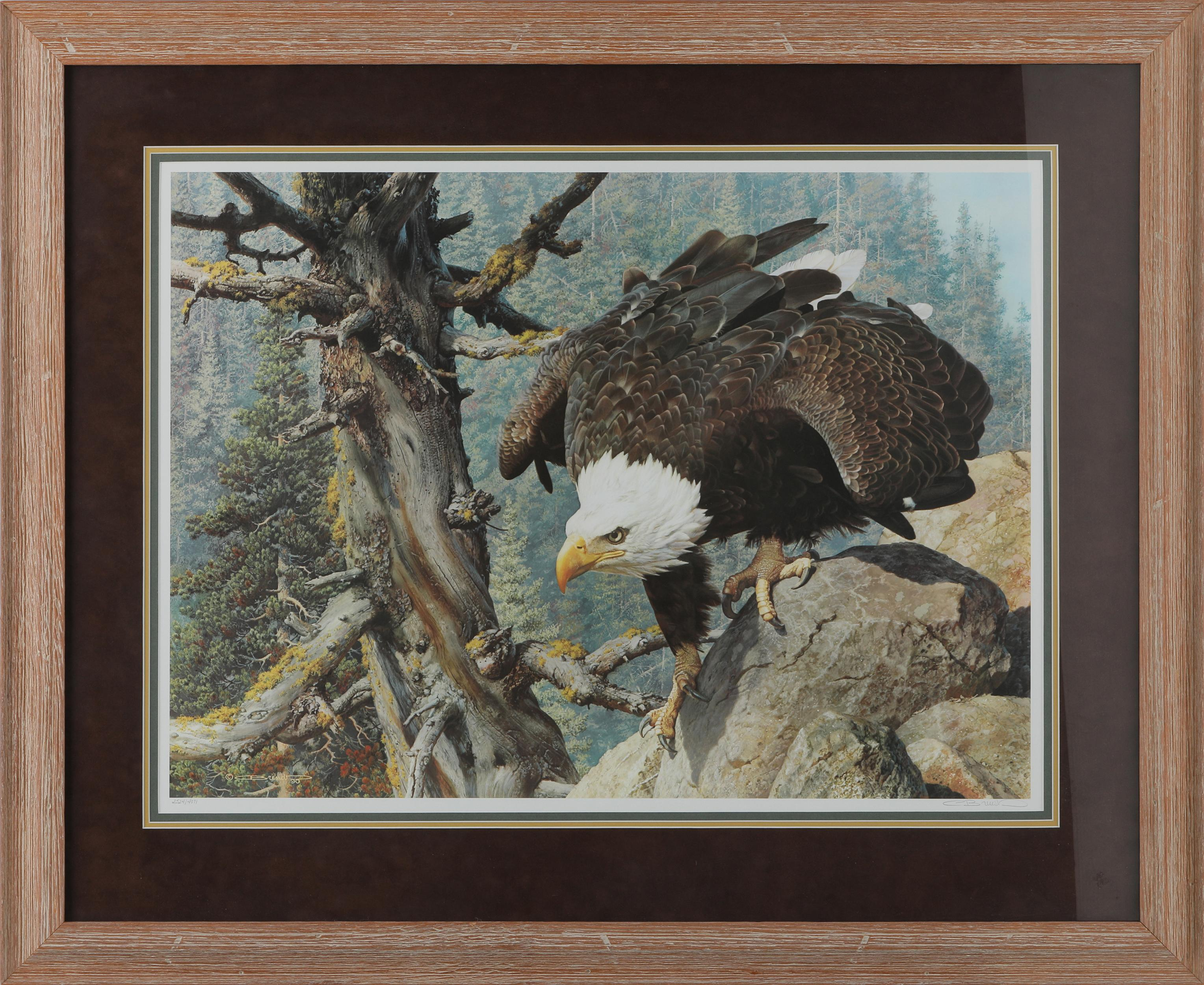 """Carl Brender's """"The Monarch Is Alive"""" Framed Limited Edition Print"""