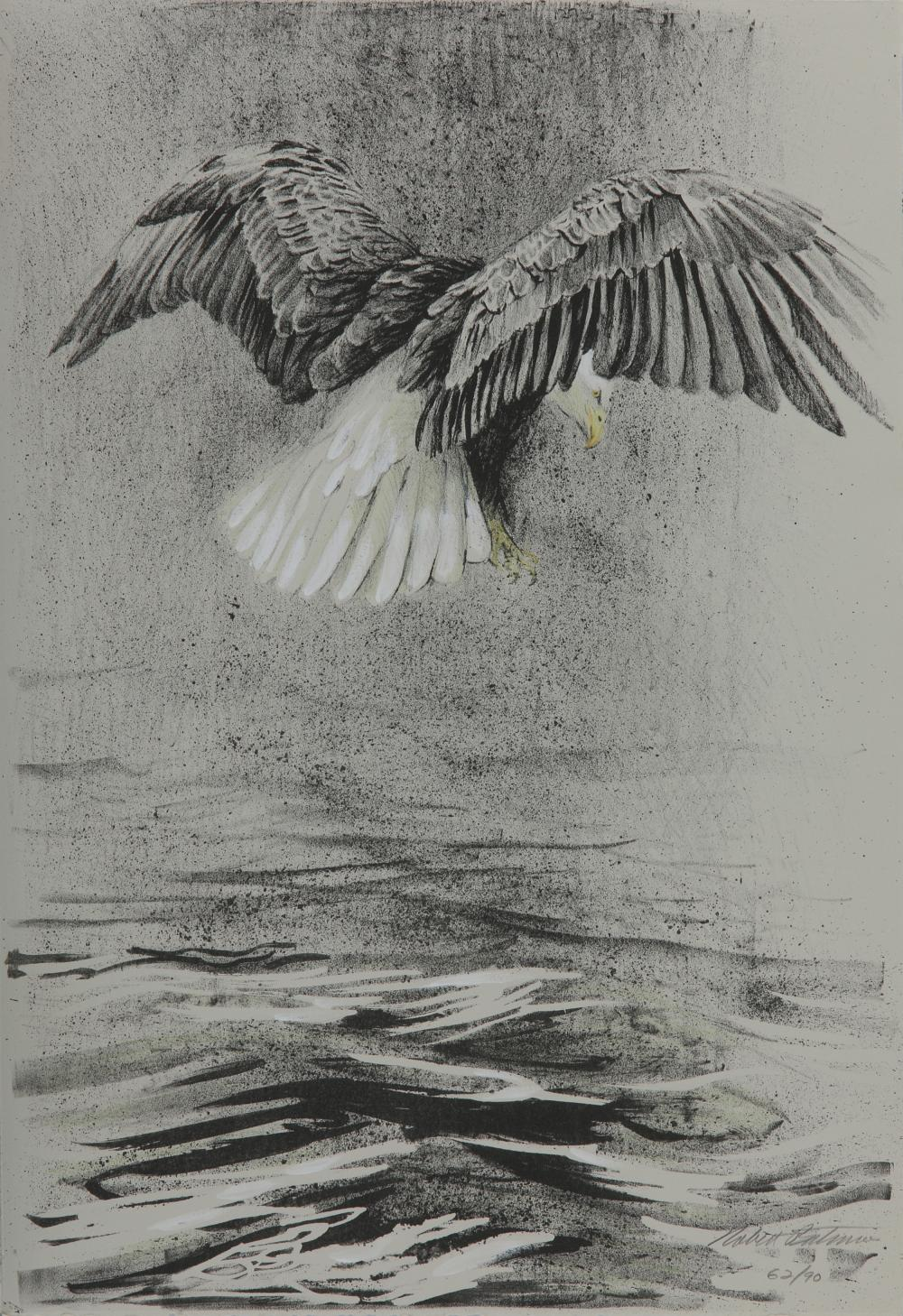 "Robert Bateman's ""Bald Eagles"" Original Lithographs - Set Of 4"