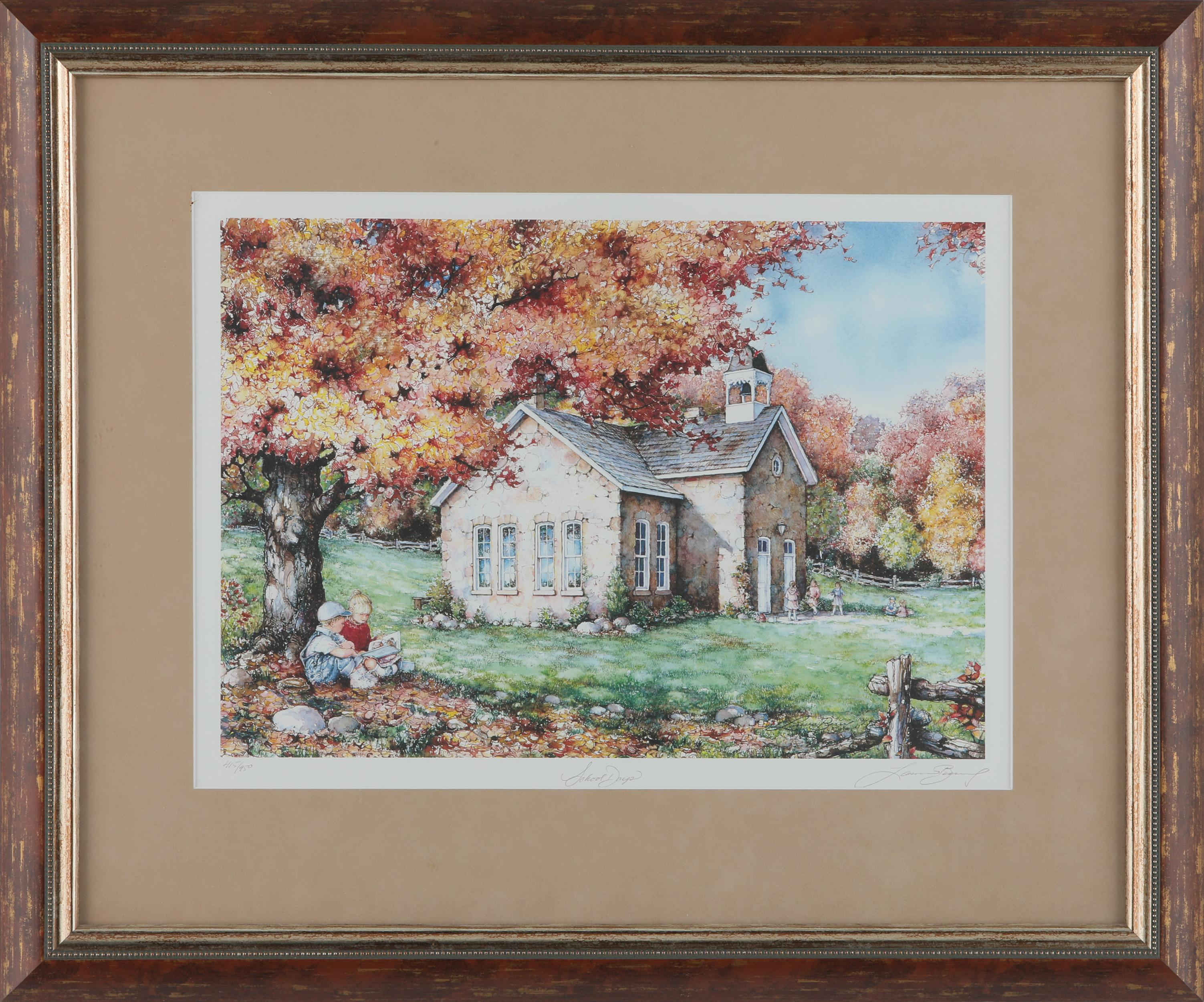 """Laura Berry's """"School Days"""" Limited Edition Framed Print"""