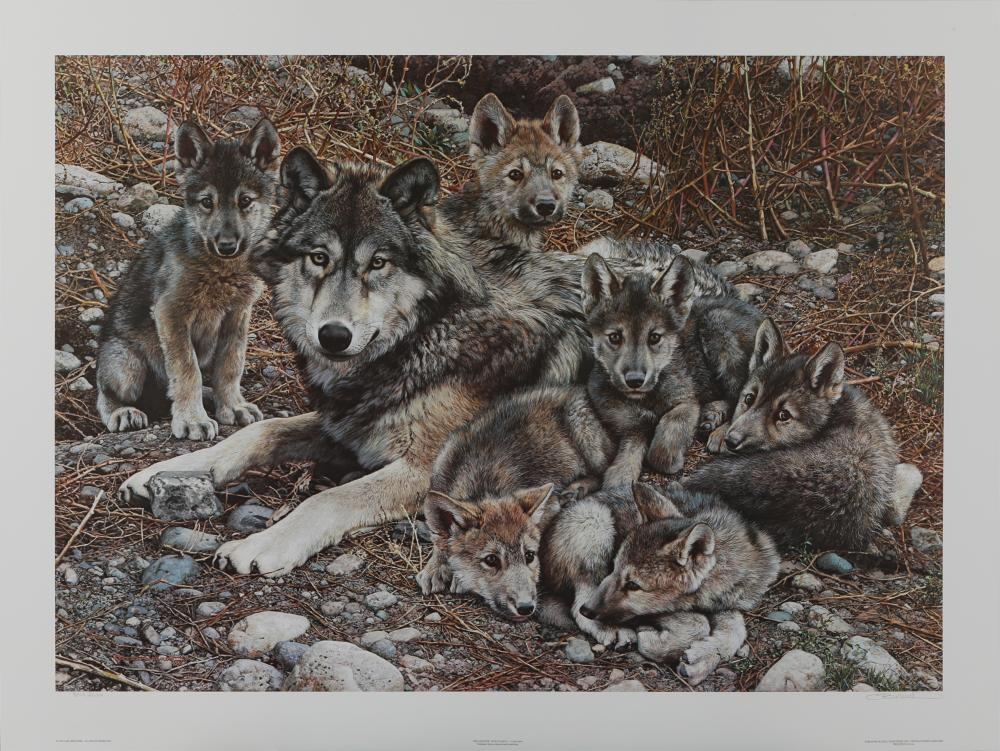 "Carl Brenders' ""Den Mother - Wolf Family"" Limited Edition Print"