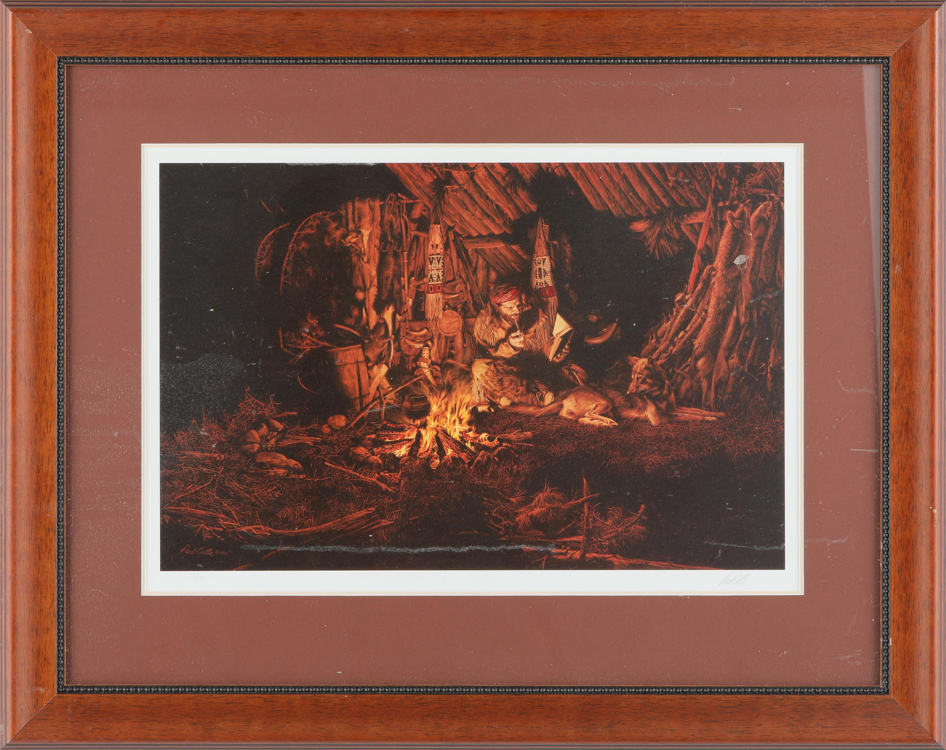 """Paul Calle's """"Fireside Companions"""" Limited Edition Framed Print"""