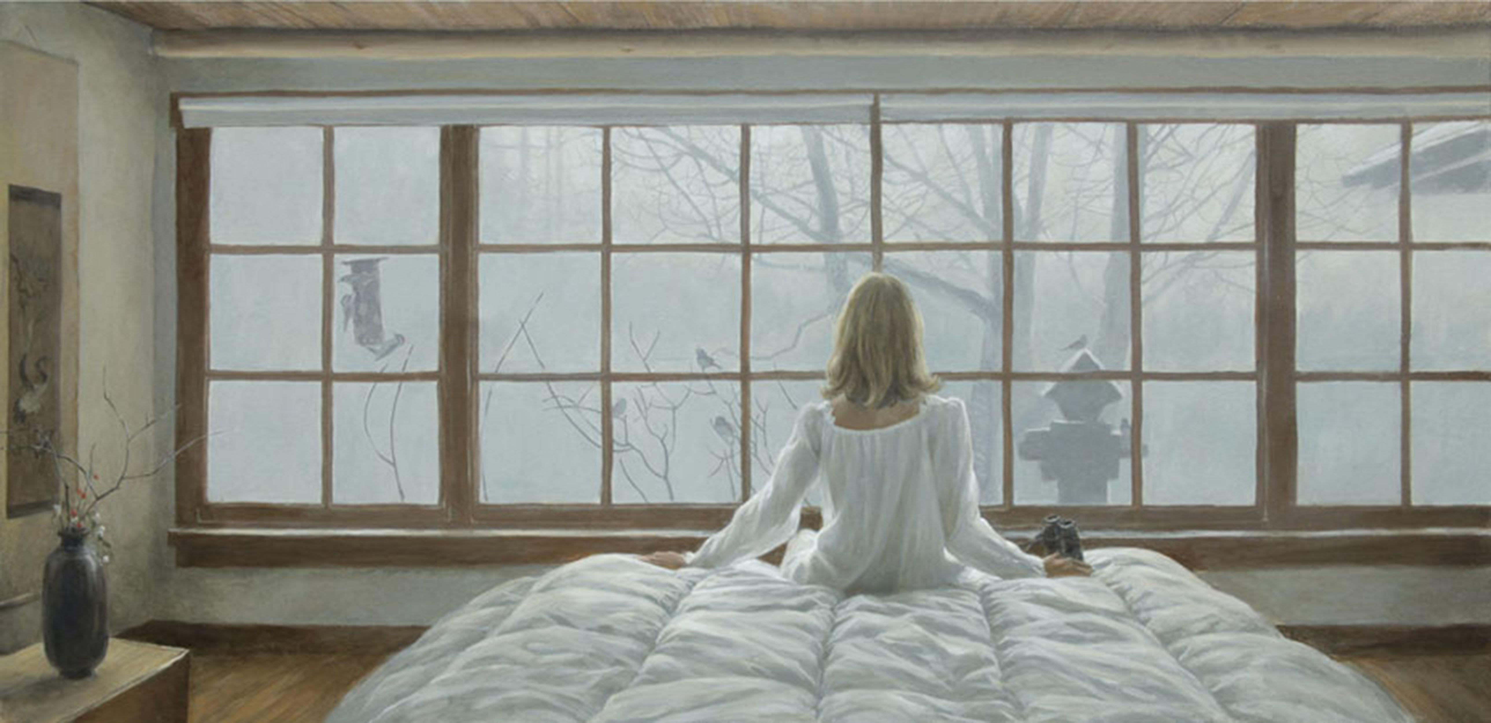 """Robert Bateman's """"Birdwatching"""" Limited Edition Canvas Signed And Numbered"""