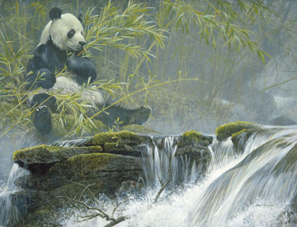 "Robert Bateman's ""Giant Panda"" Limited Edition Canvas Signed And Numbered"