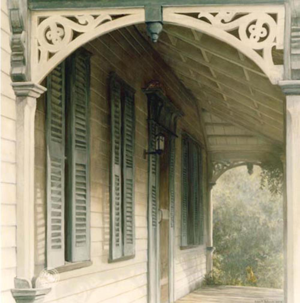 """Robert Bateman's """"Lucas Porch"""" Limited Edition Canvas Signed And Numbered"""